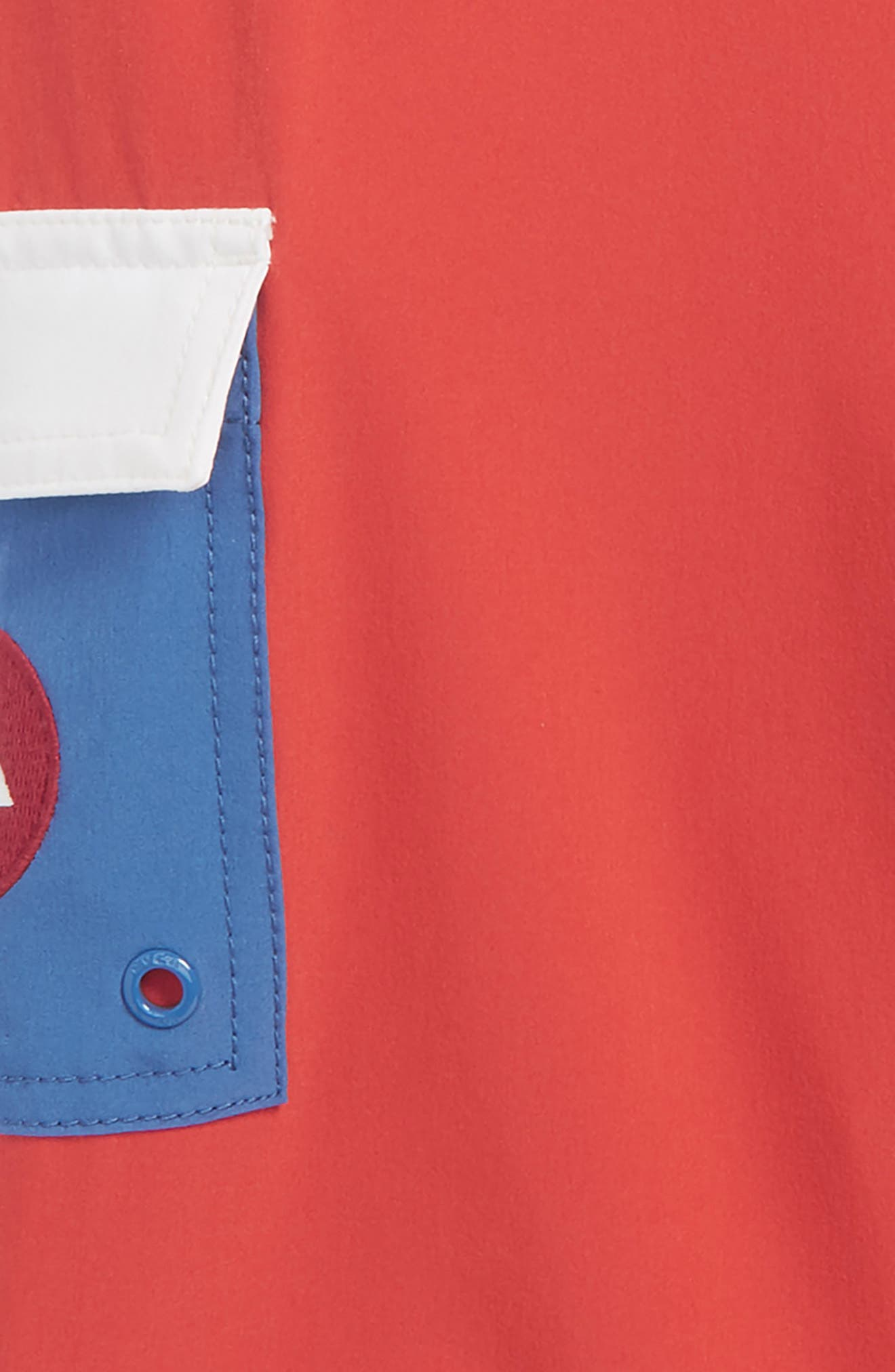 'Eastern' Scalloped Hem Board Shorts,                             Alternate thumbnail 3, color,                             Baked Apple