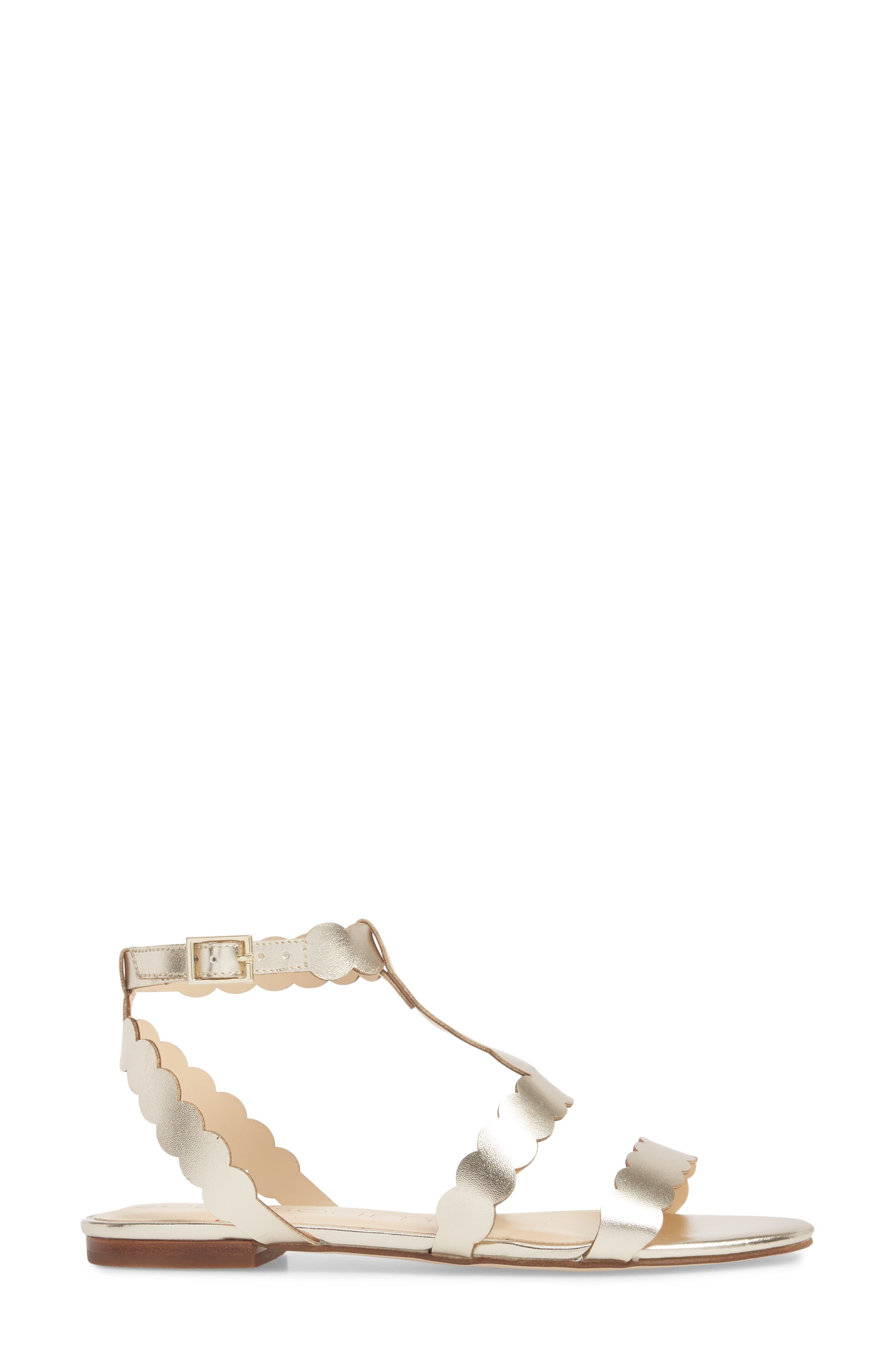 So-Maladee Flat Sandal,                             Alternate thumbnail 3, color,                             Totes Gold