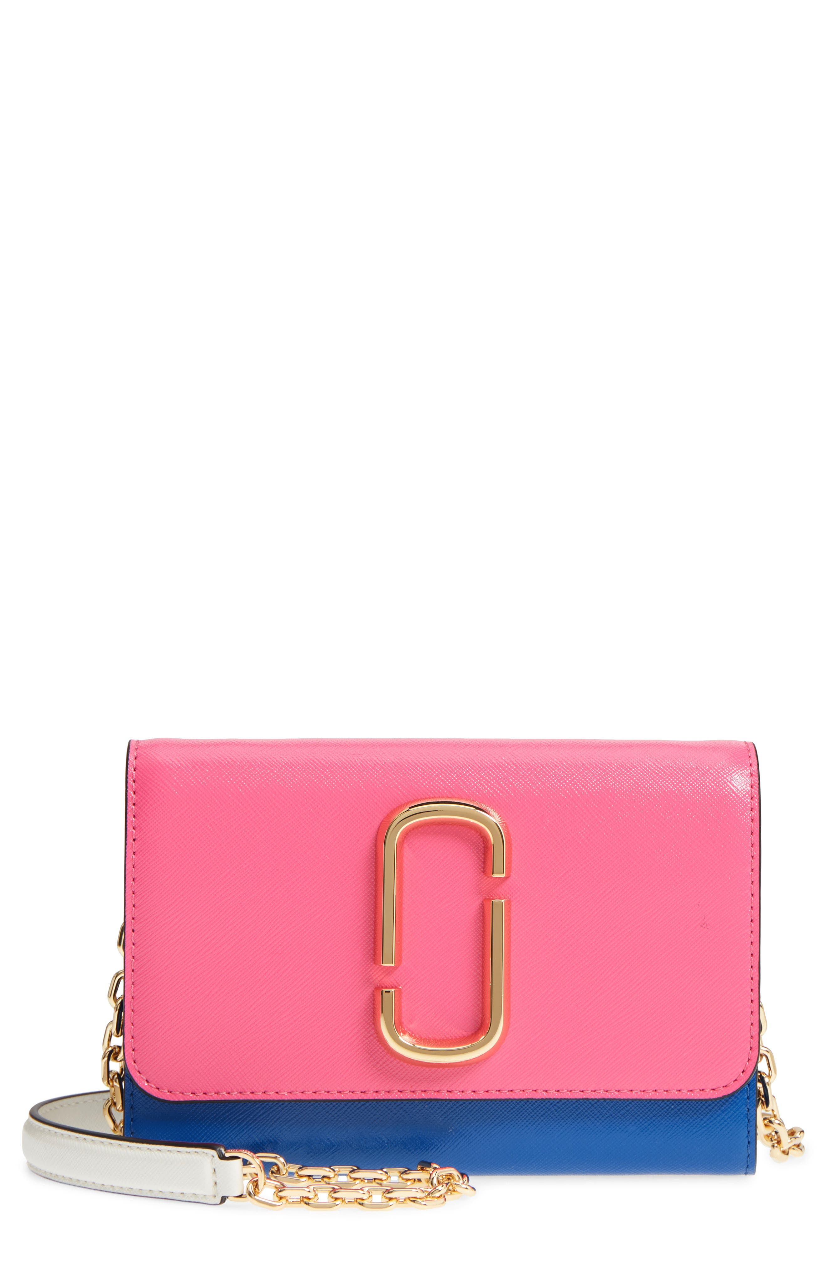 MARC JACOBS Snapshot Leather Wallet on a Chain