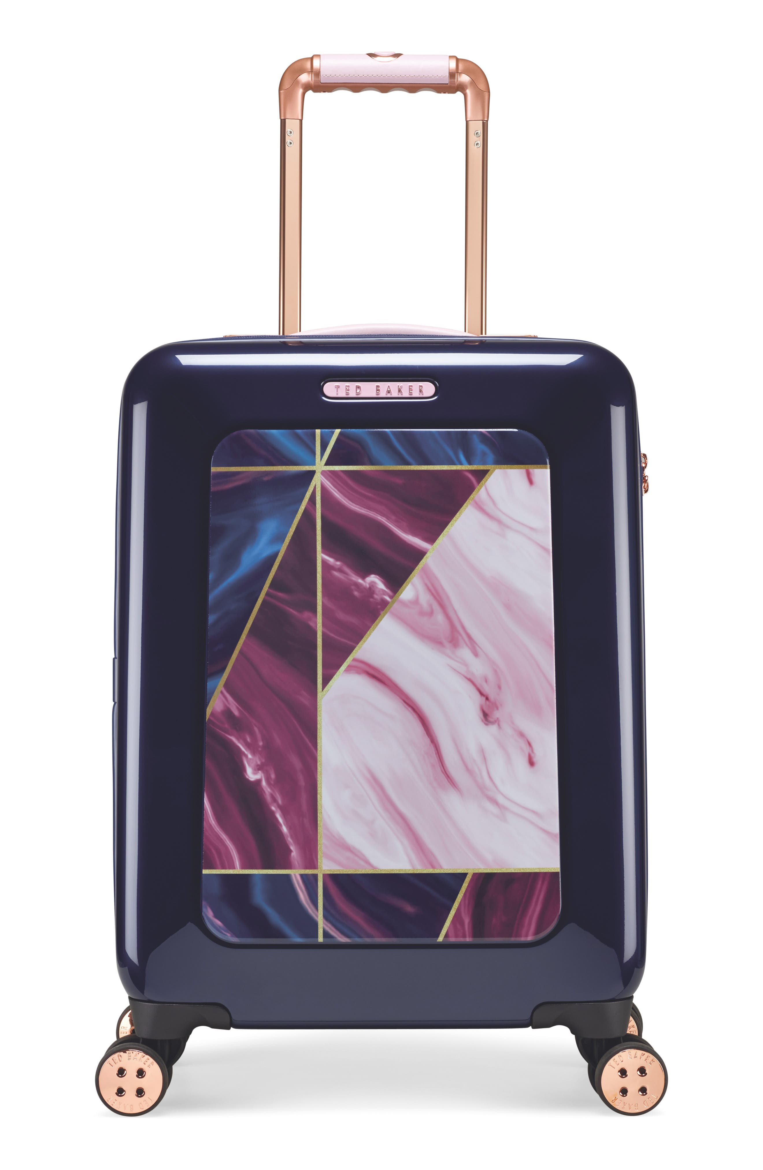 Small Balmoral 21-Inch Spinner Carry-On,                             Main thumbnail 1, color,                             Purple