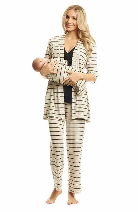5a9042674d3b0 Everly Grey Roxanne - During & After 5-Piece Maternity Sleepwear Set