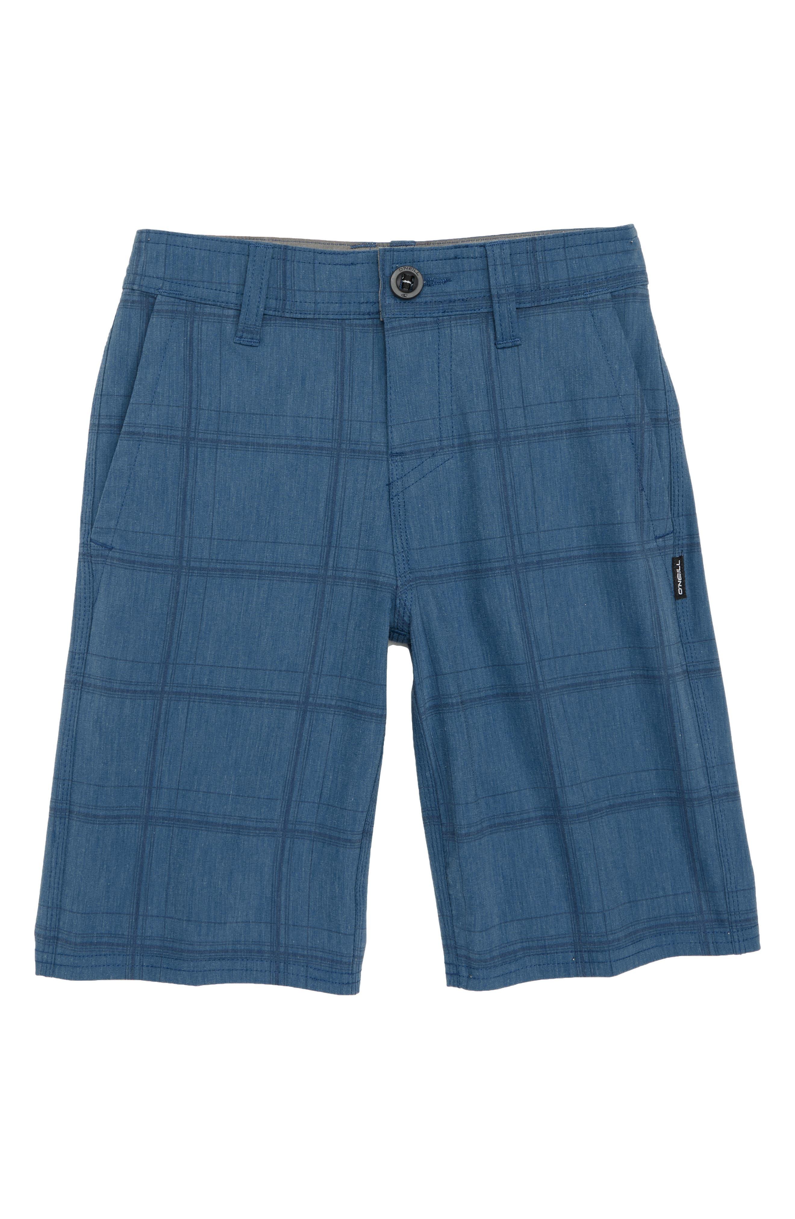 Mixed Hybrid Shorts,                             Main thumbnail 1, color,                             Dark Blue