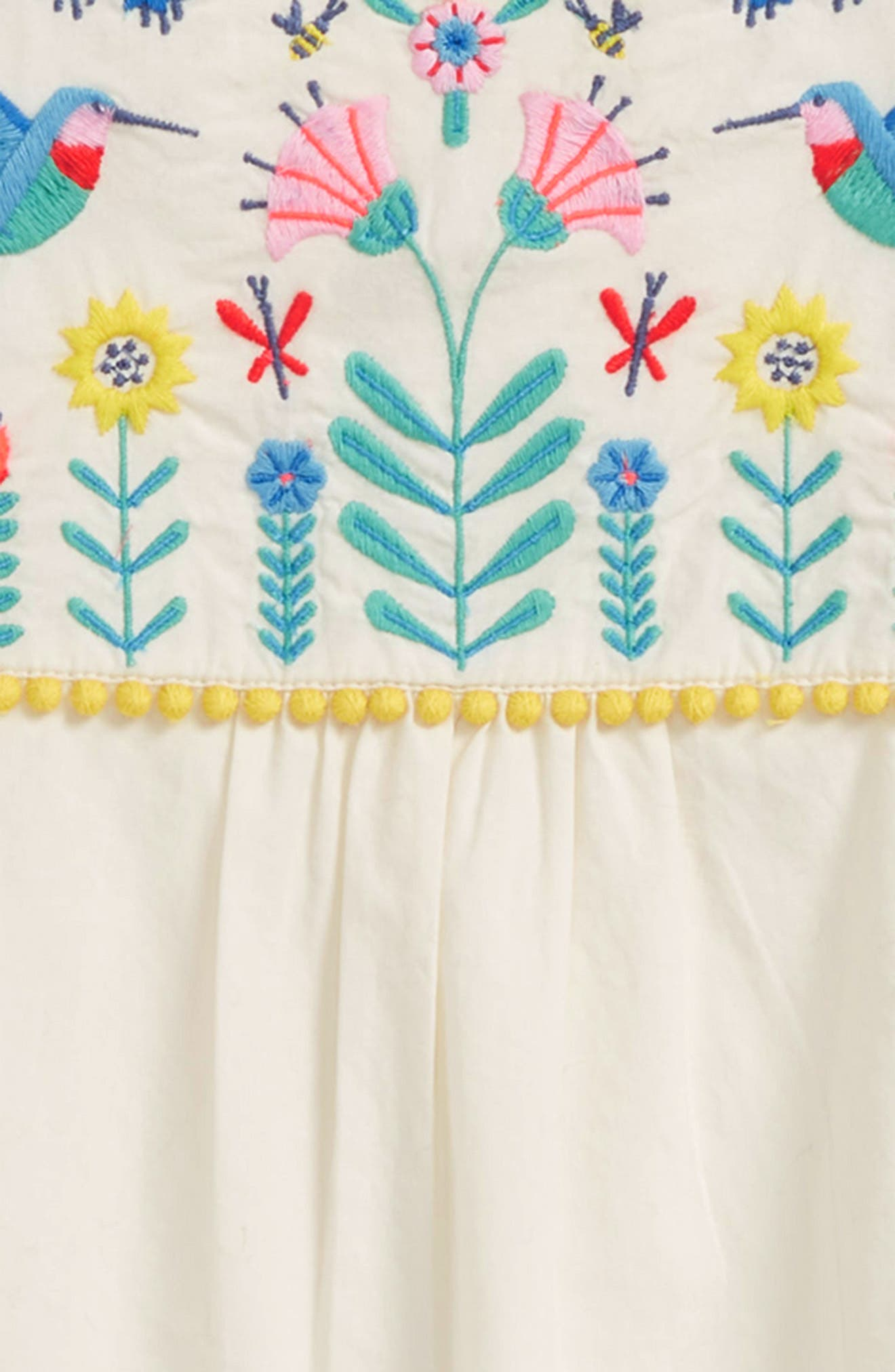 Pretty Embroidered Caftan,                             Alternate thumbnail 2, color,                             Ecru