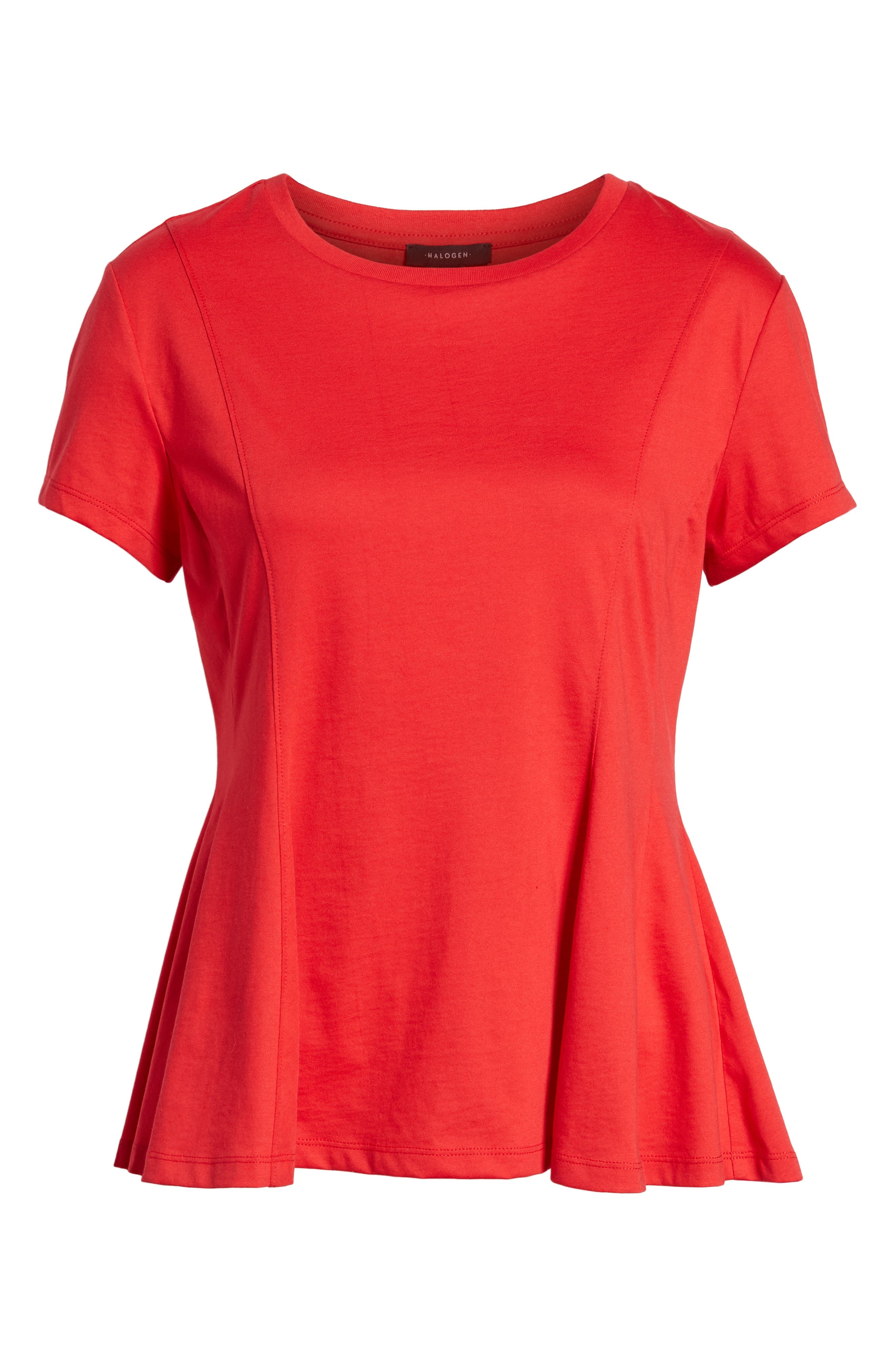 Swing Tee,                             Alternate thumbnail 7, color,                             Red Lipstick