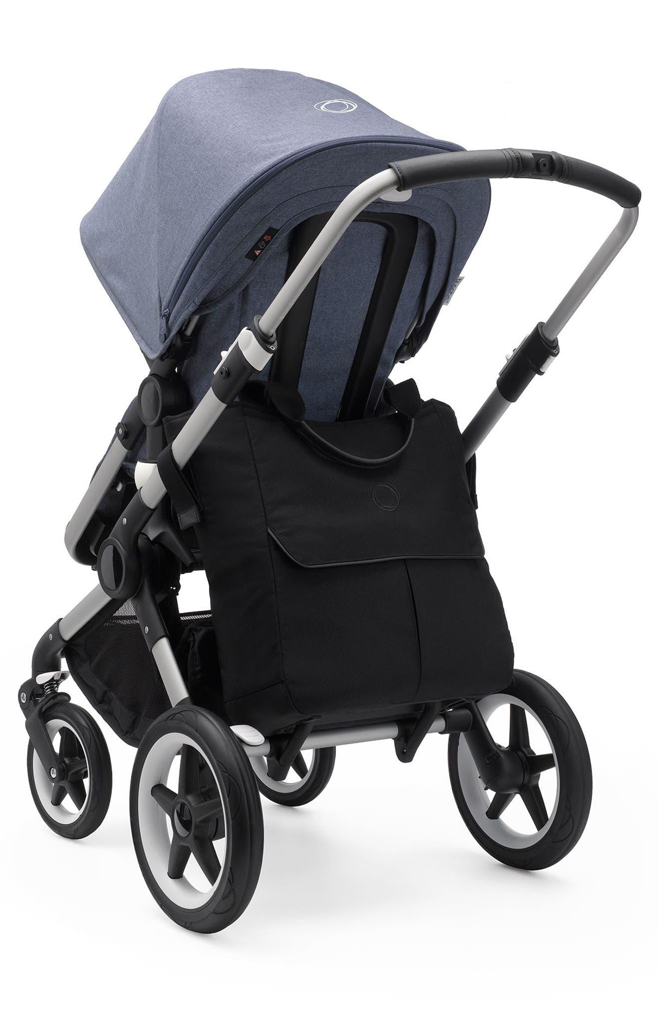 Mammoth Stroller Organizer Bag,                             Alternate thumbnail 3, color,                             Black