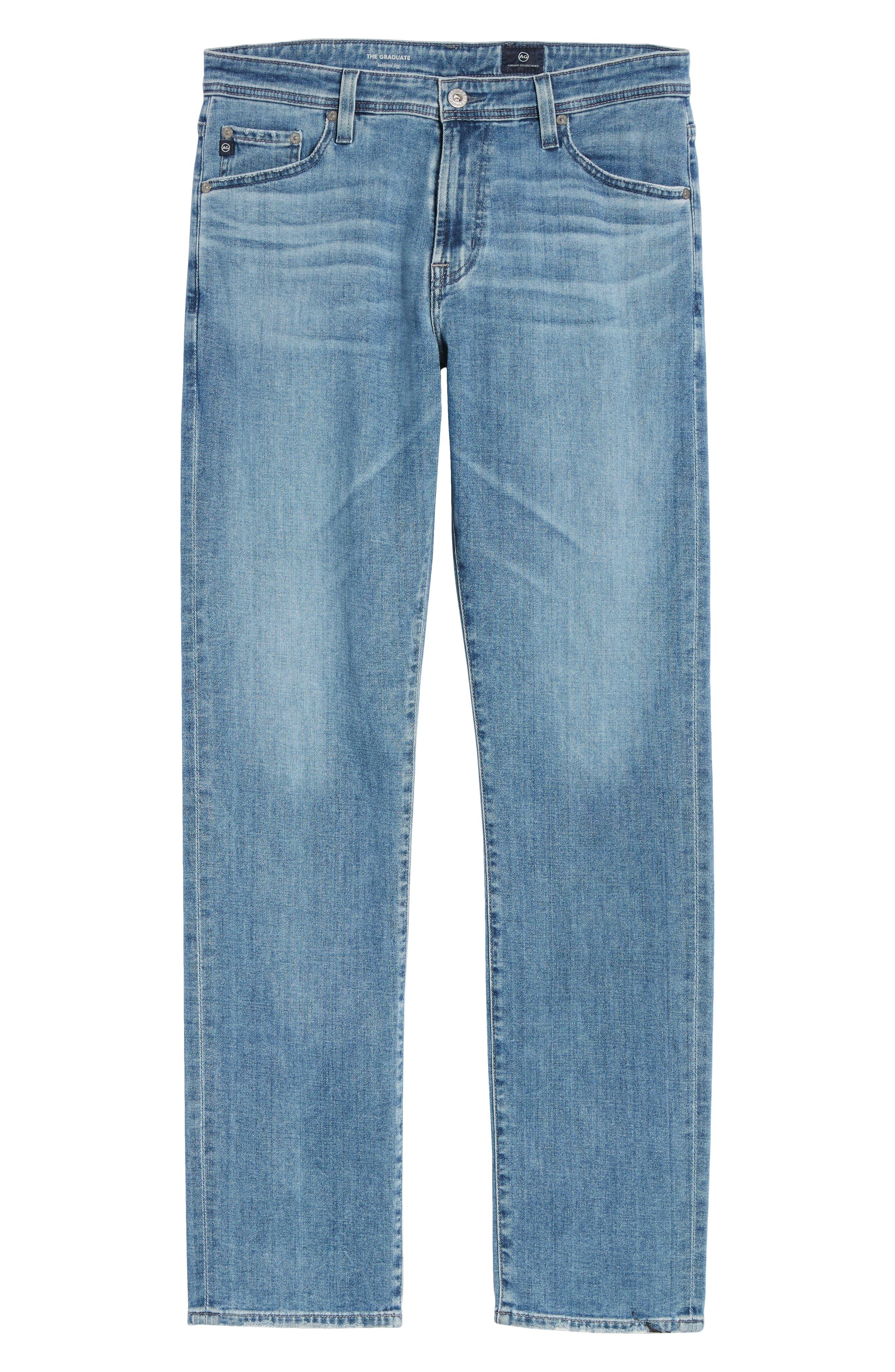 Graduate Slim Straight Leg Jeans,                             Alternate thumbnail 6, color,                             Sandpiper
