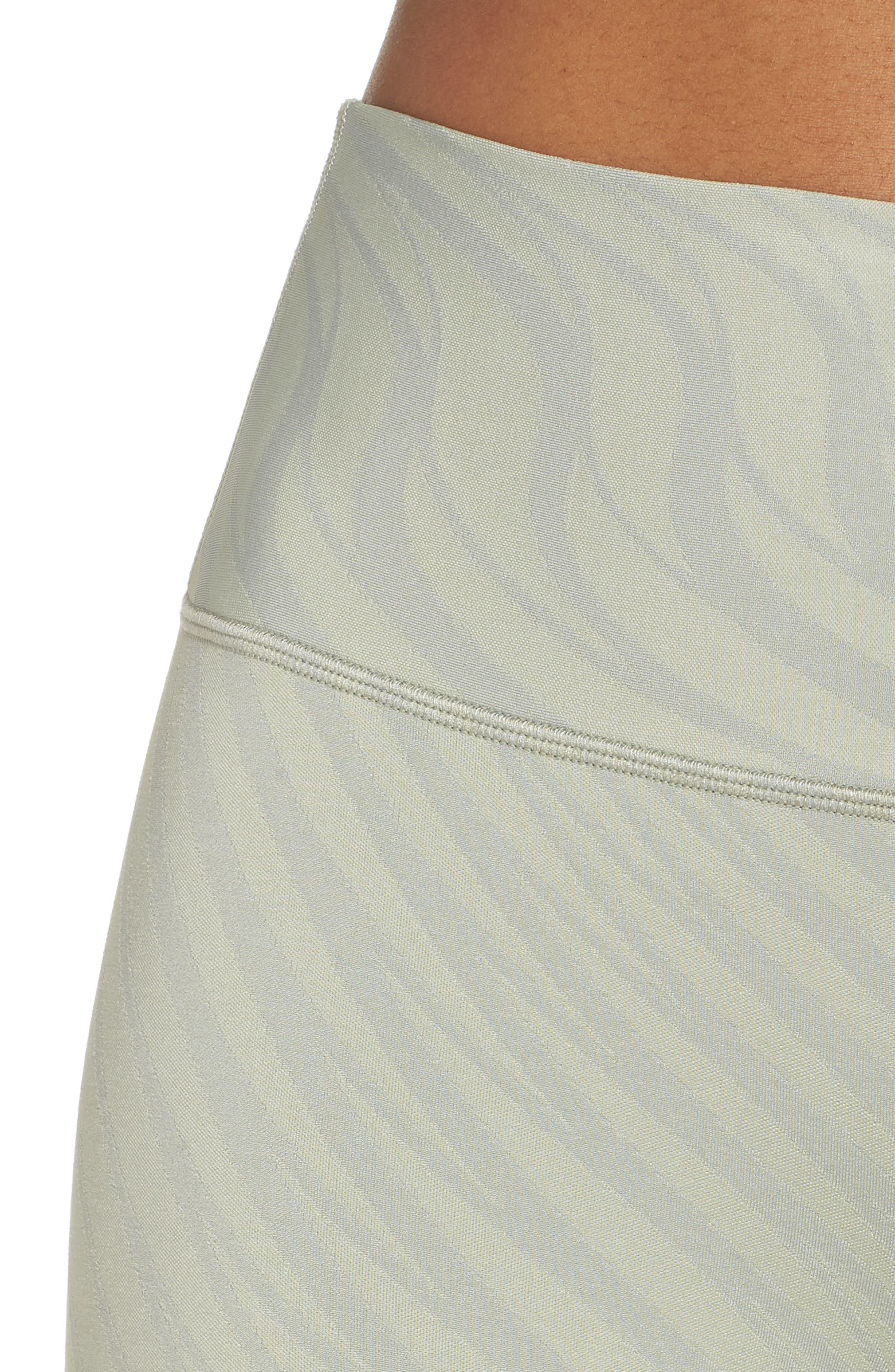 Airbrush High Waist Capris,                             Alternate thumbnail 4, color,                             Pistachio Waves