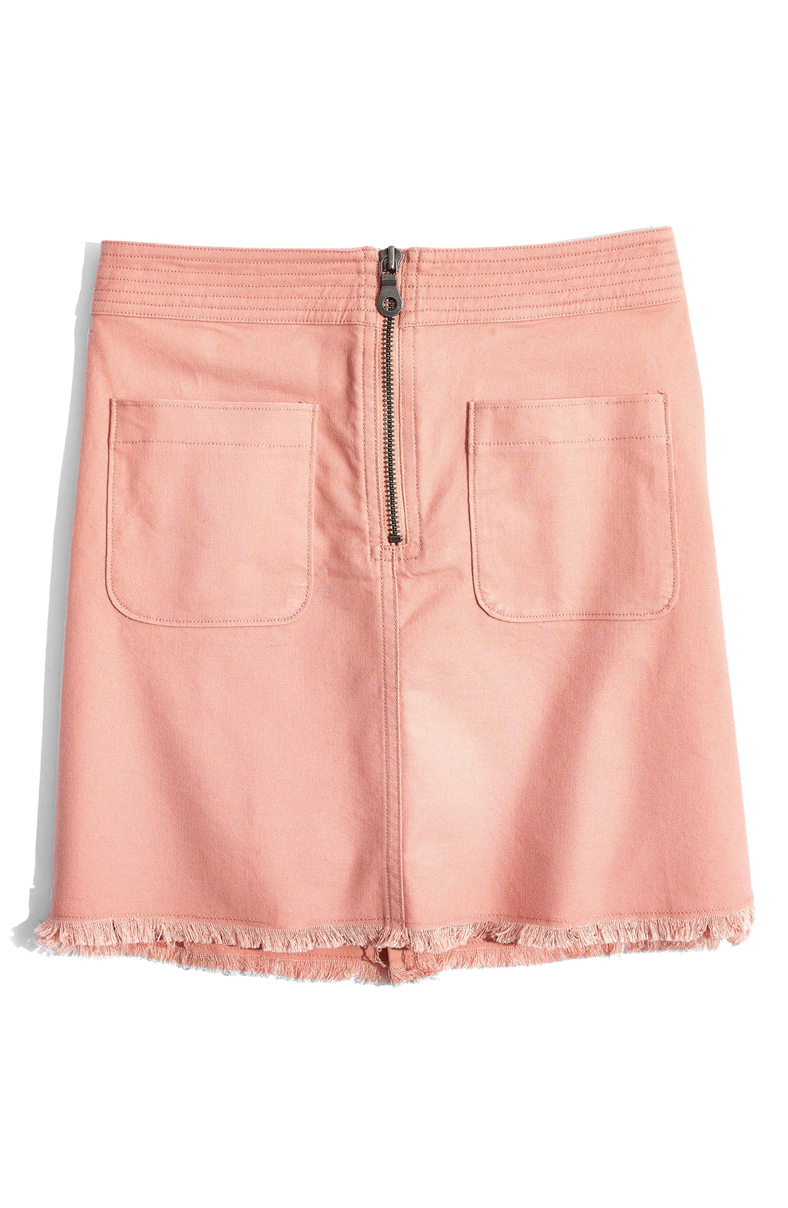 A-Line Zip Skirt,                             Alternate thumbnail 4, color,                             Antique Coral