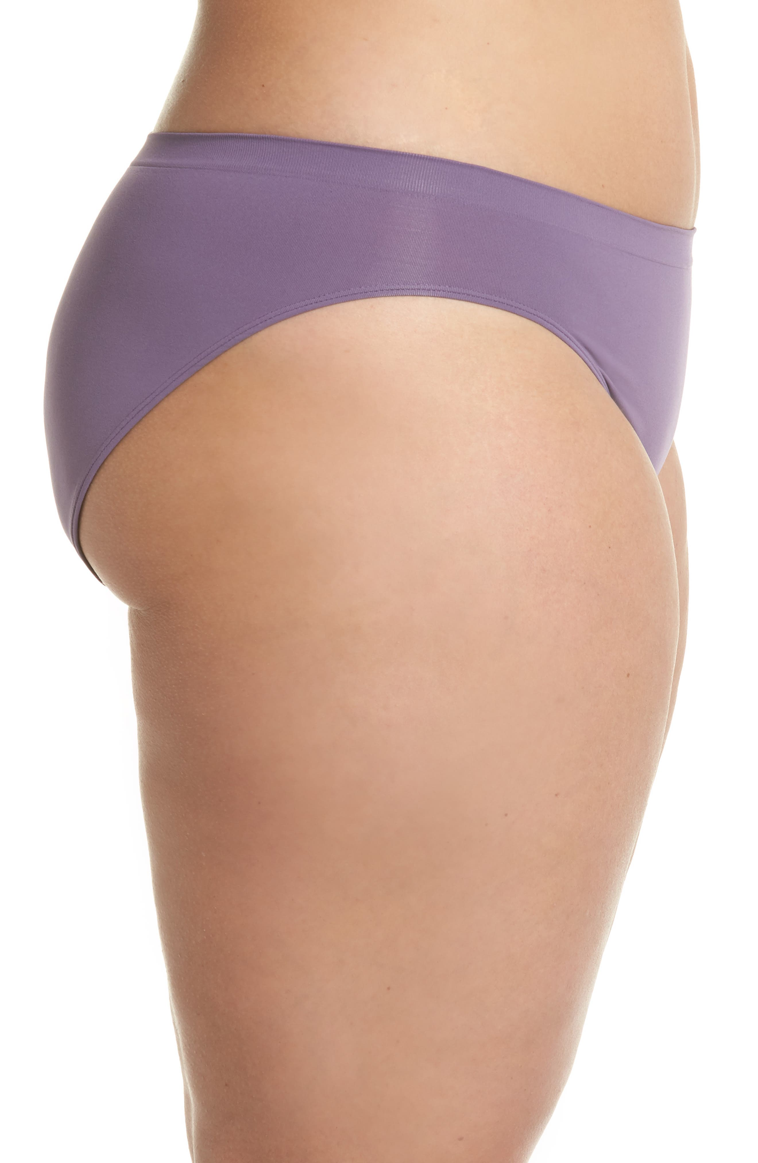 Seamless Bikini,                             Alternate thumbnail 3, color,                             Purple Mulled