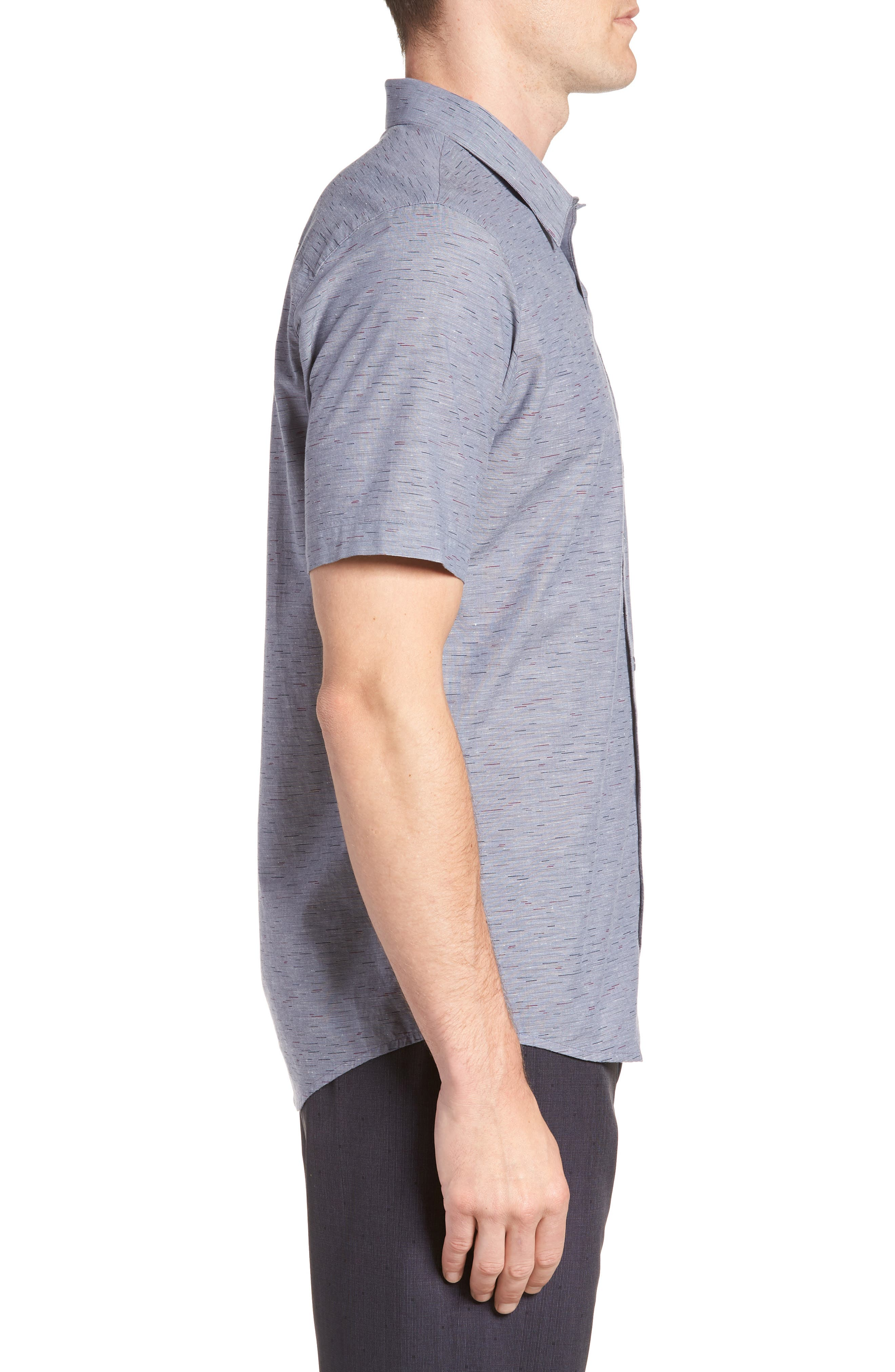 Stacoto Regular Fit Sport Shirt,                             Alternate thumbnail 4, color,                             Heather Alloy