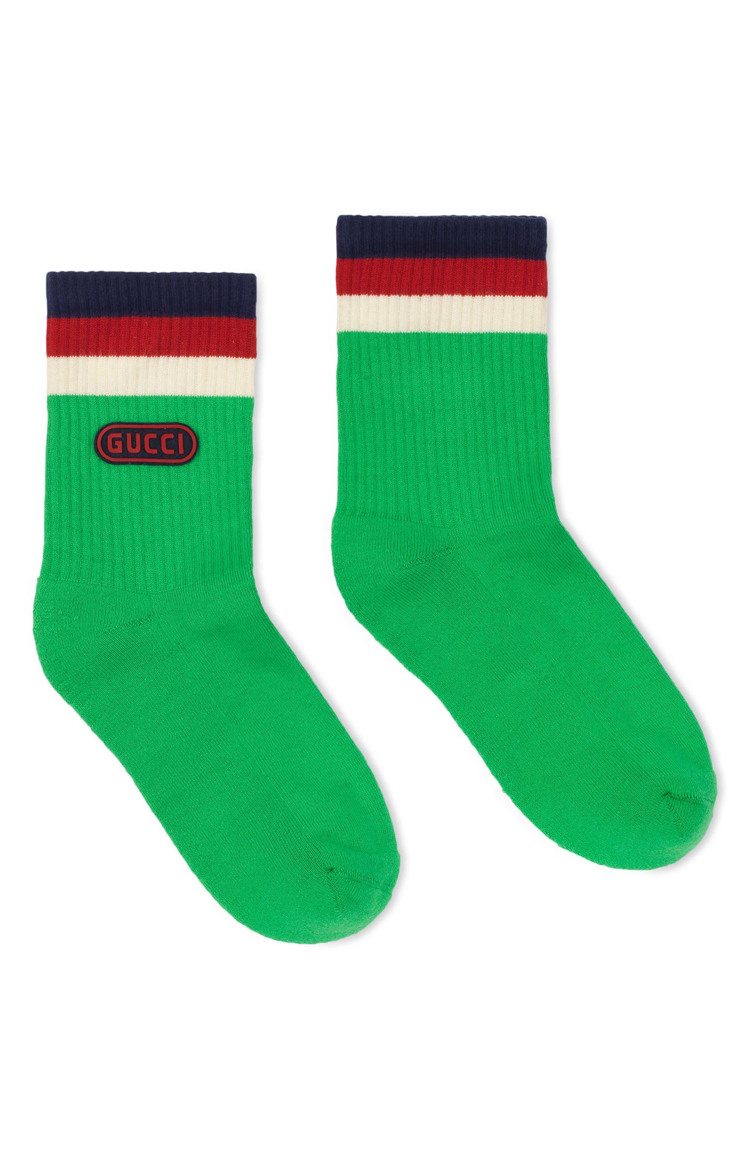 Logo Stamp Socks,                             Main thumbnail 1, color,                             Grass Green