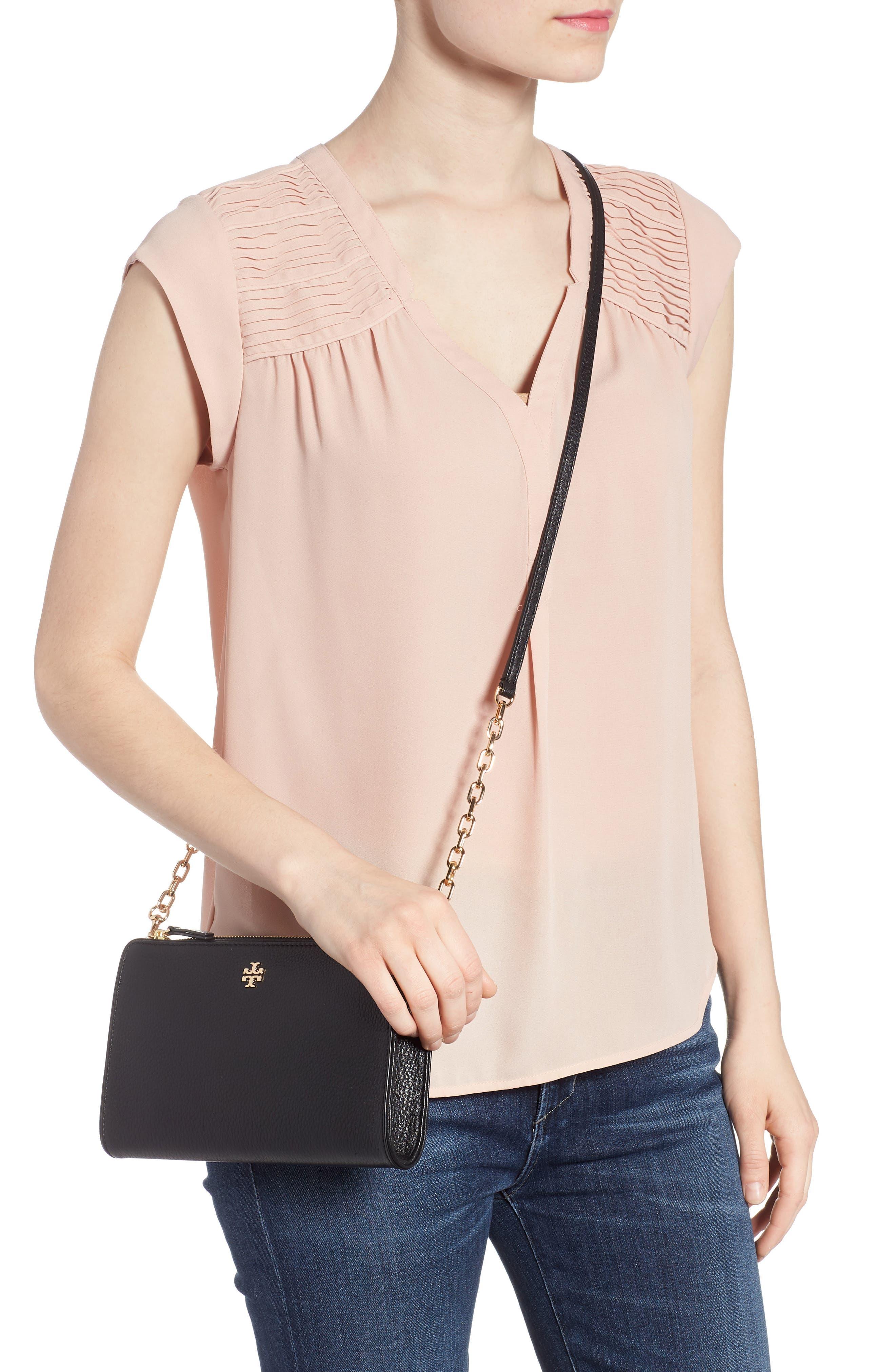 Marsden Leather Wallet Crossbody Bag,                             Alternate thumbnail 2, color,                             Black