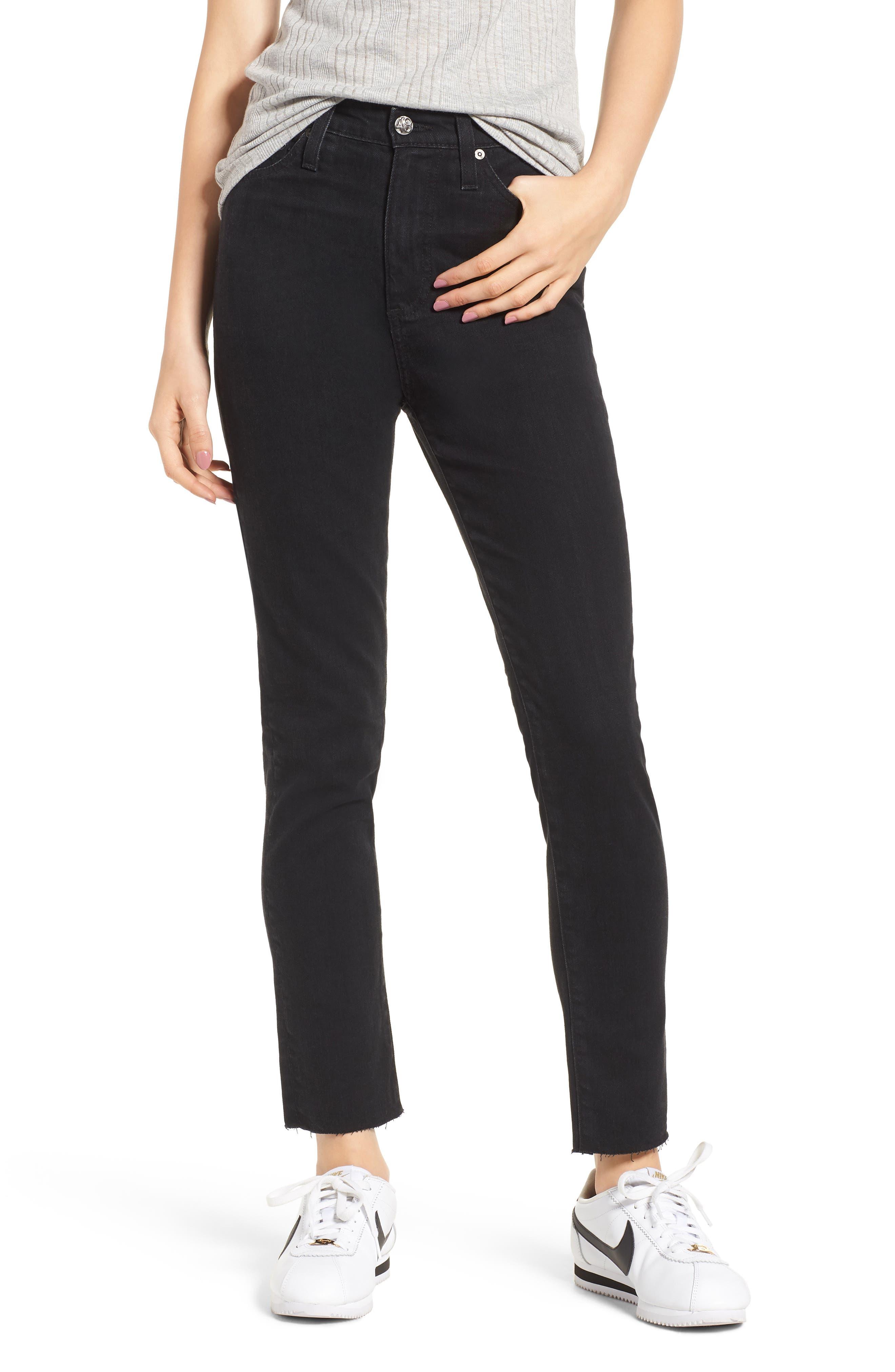 Sophia High Waist Ankle Skinny Jeans,                         Main,                         color, 1 Year Black Hawk