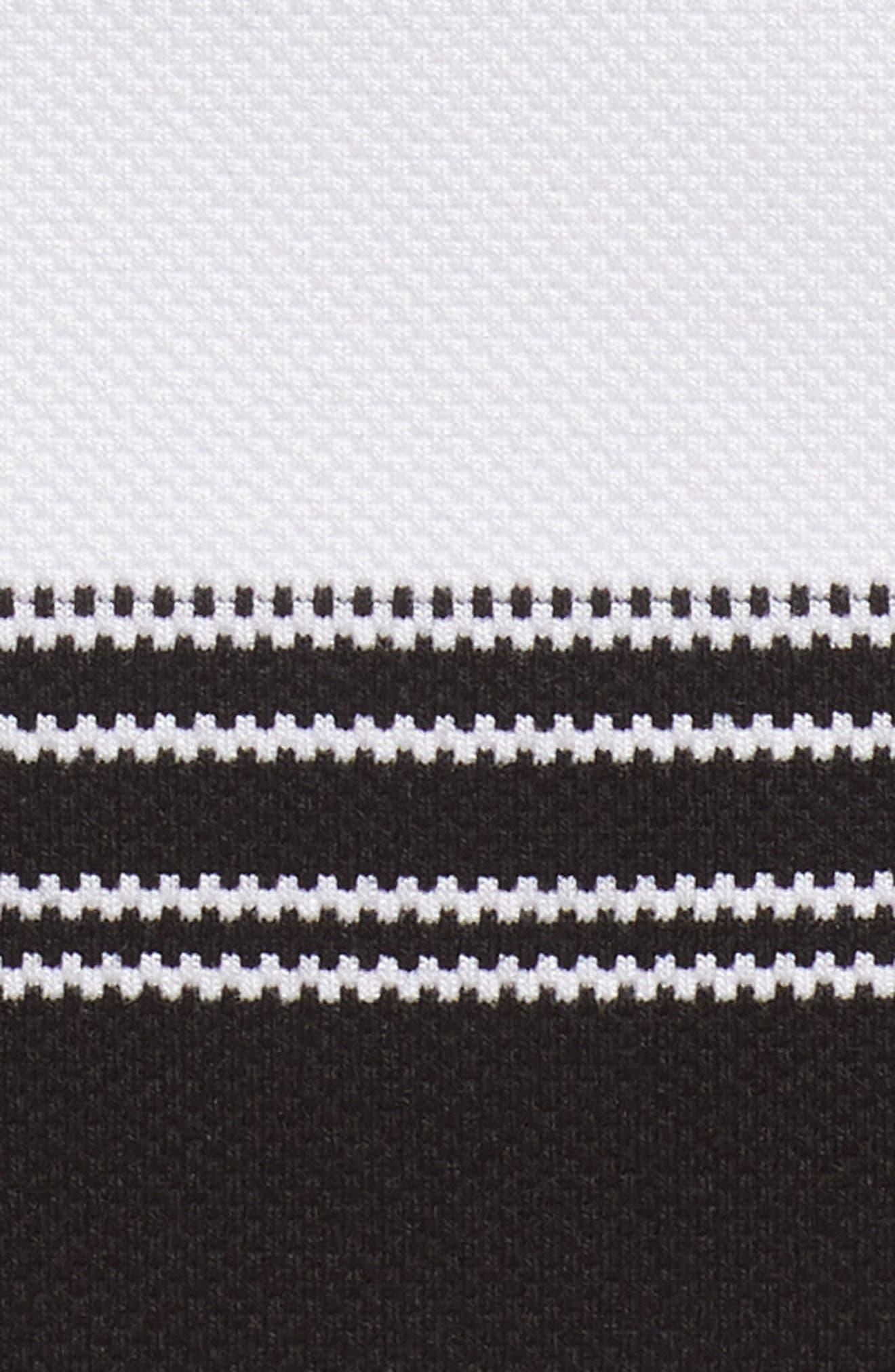 Knit Pencil Skirt,                             Alternate thumbnail 5, color,                             Black- Ivory Stripe