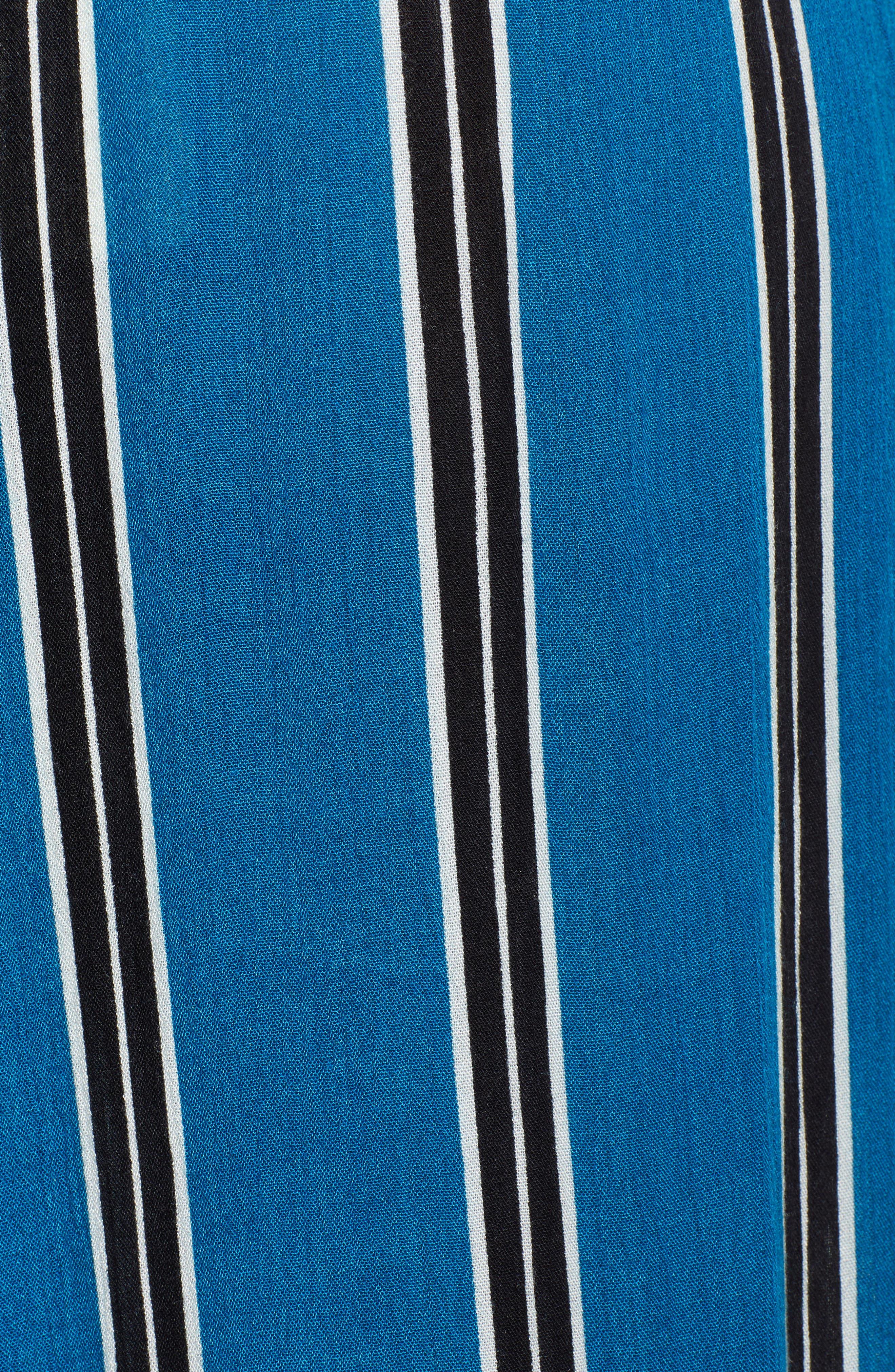 Stripe Wide Leg Pants,                             Alternate thumbnail 7, color,                             Blue/ Black