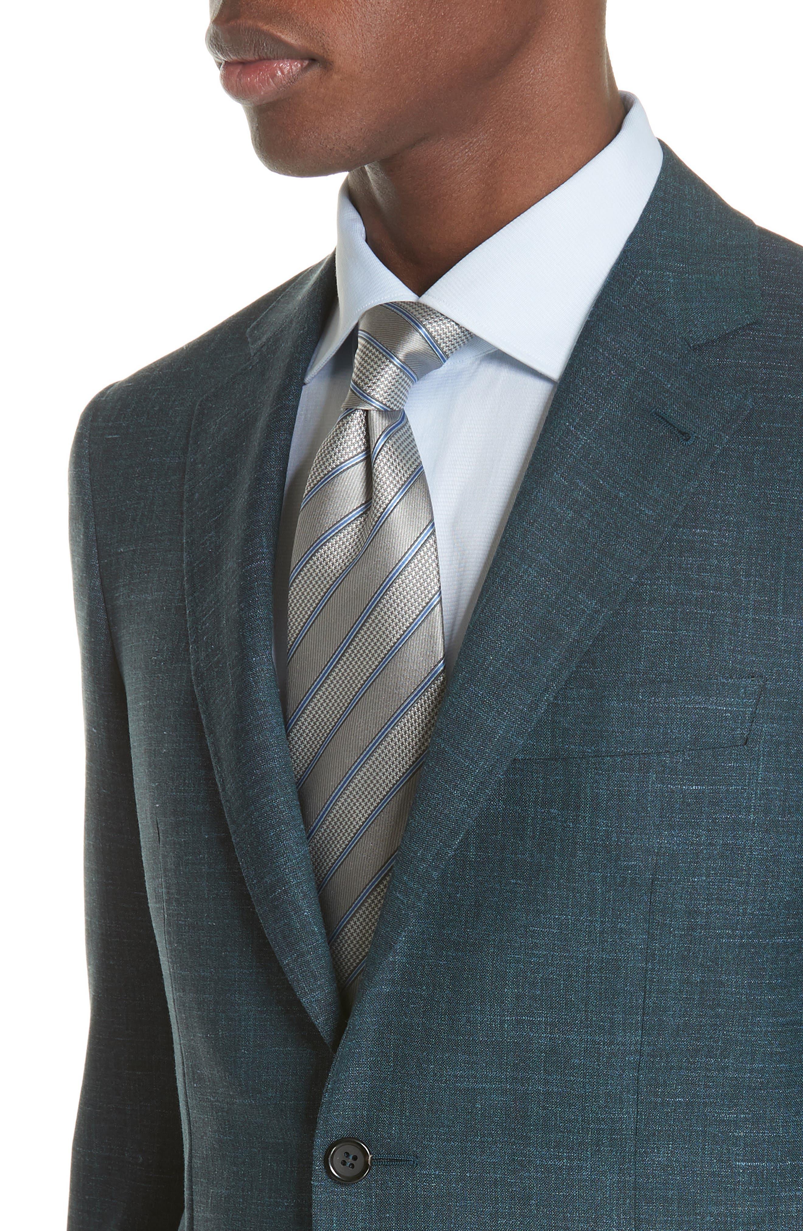 Classic Fit Wool Blend Blazer,                             Alternate thumbnail 4, color,                             Green