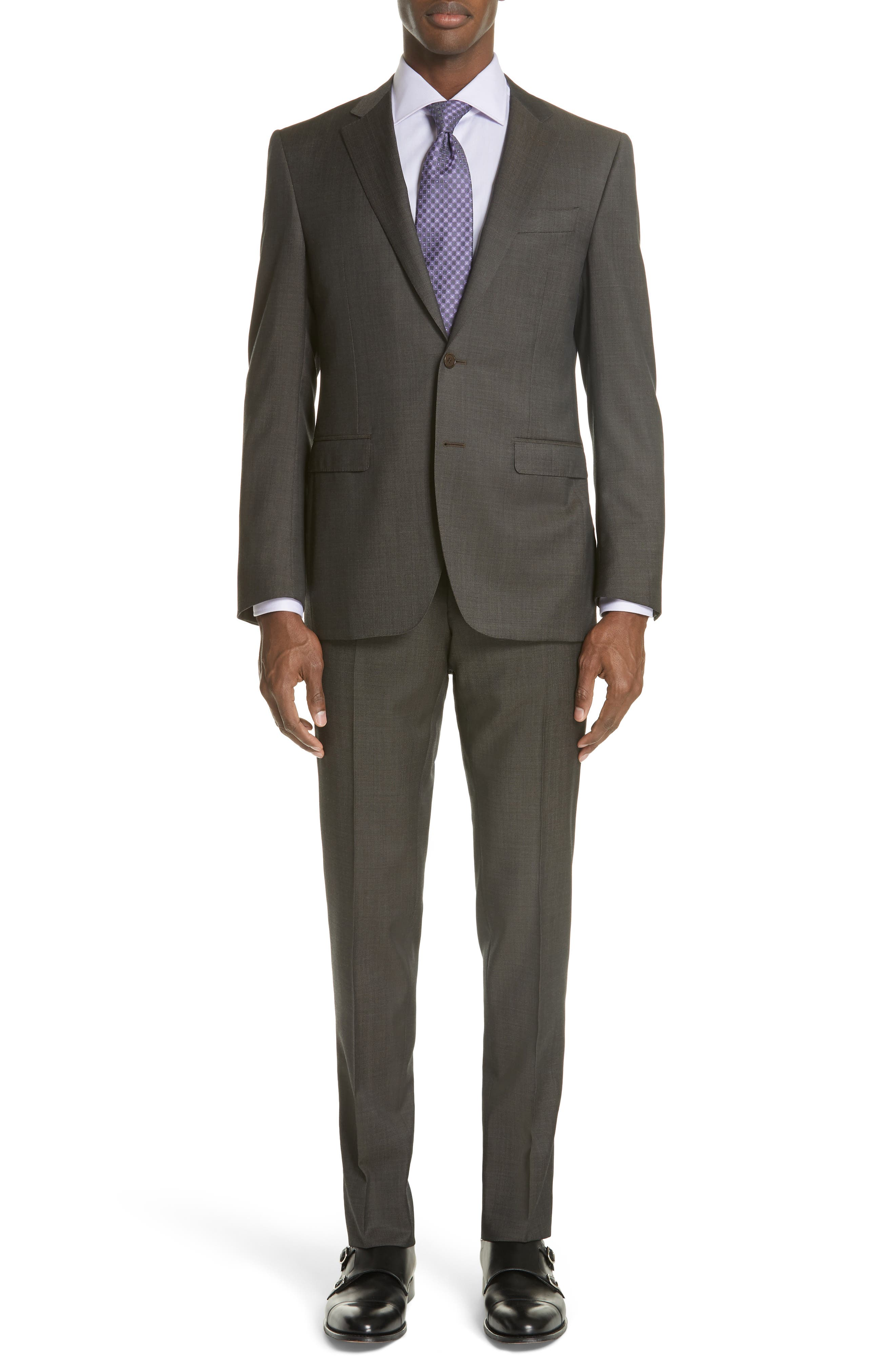 Classic Fit Solid Wool Suit,                             Main thumbnail 1, color,                             Grey