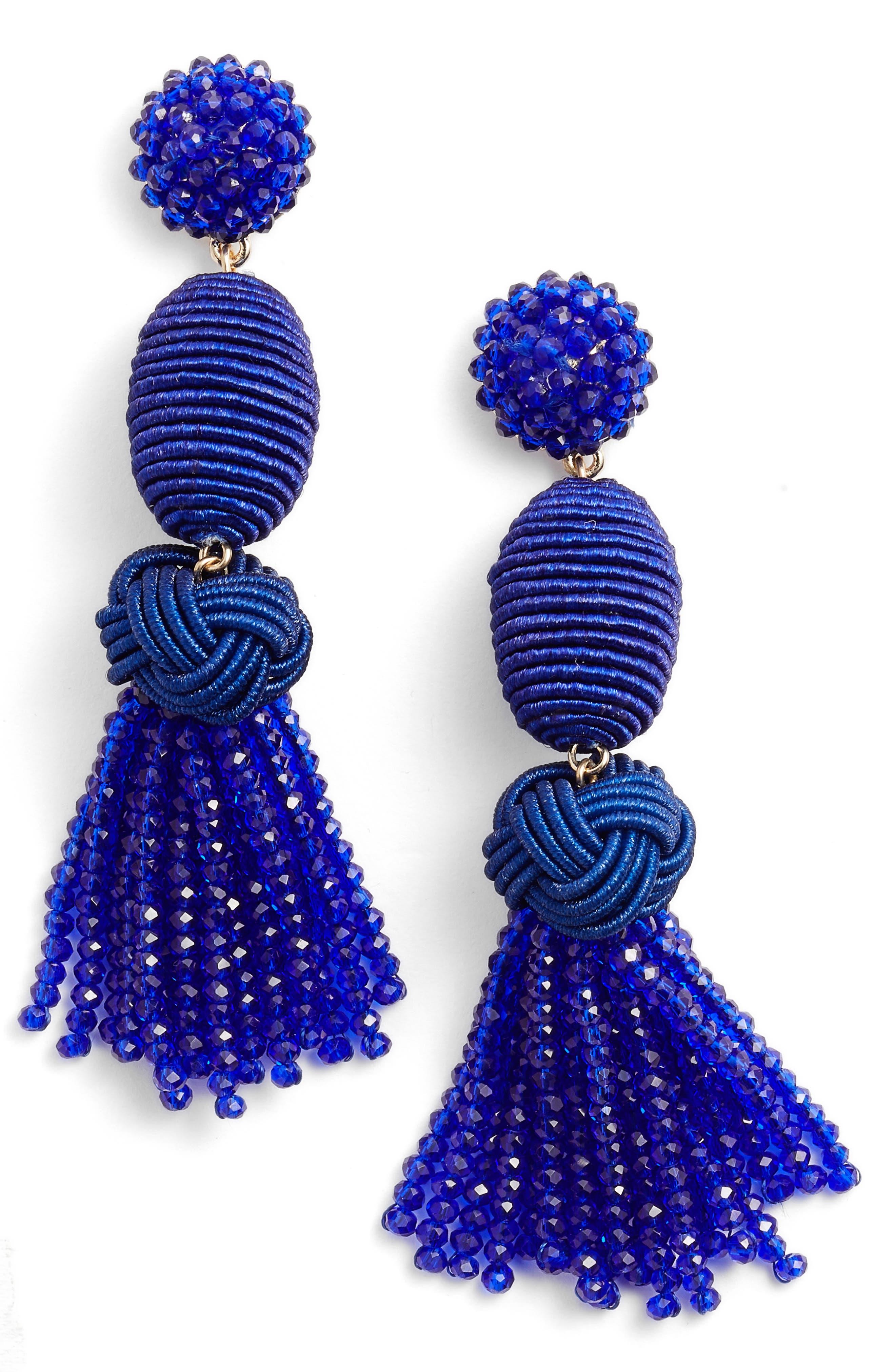 Amina Drop Earrings,                         Main,                         color, Bright Blue