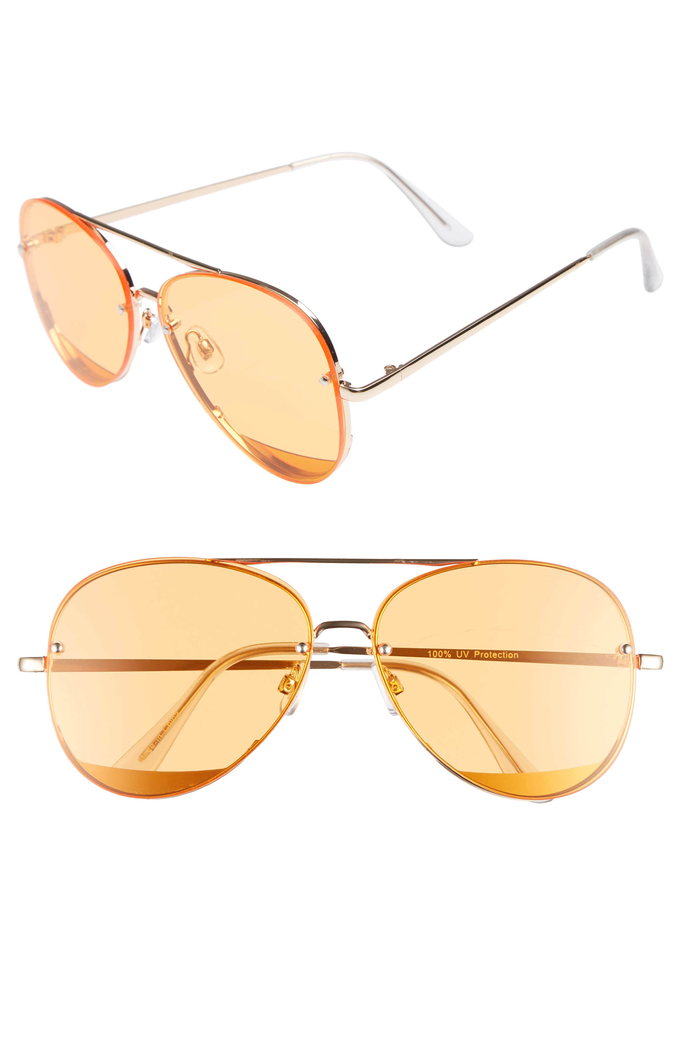 BP. 60mm Rimless Aviator Sunglasses