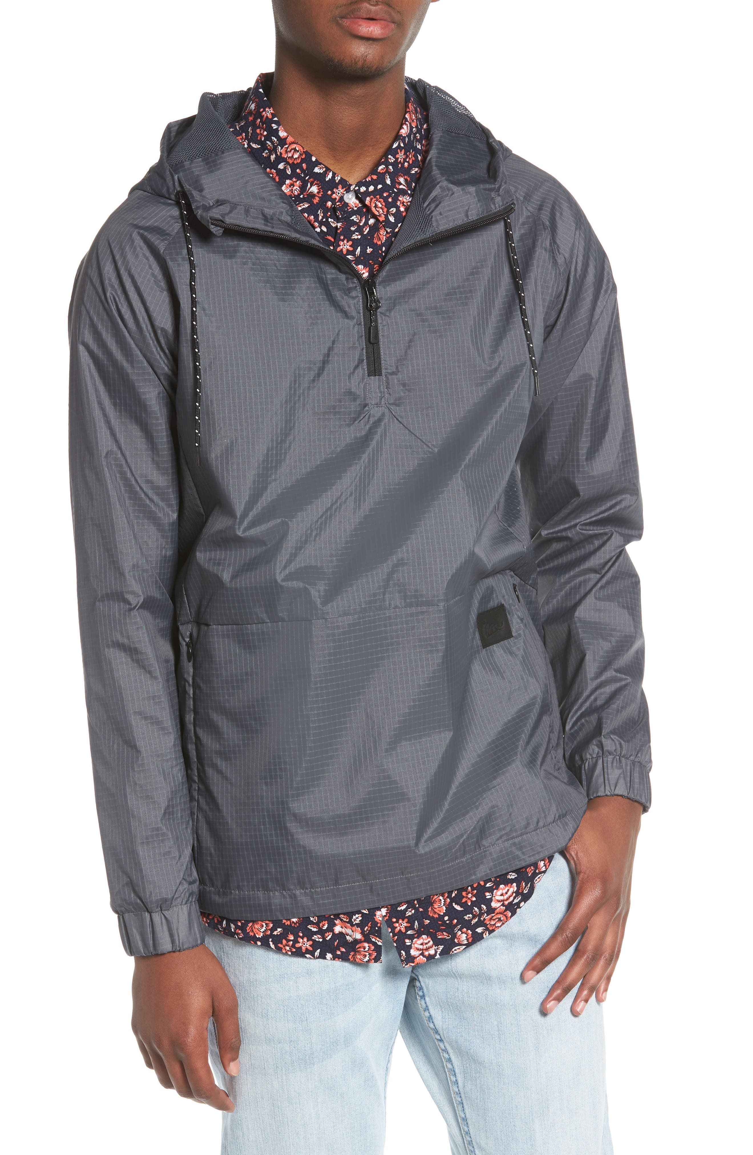 NCT Bezel Packable Anorak,                             Main thumbnail 1, color,                             Asphalt