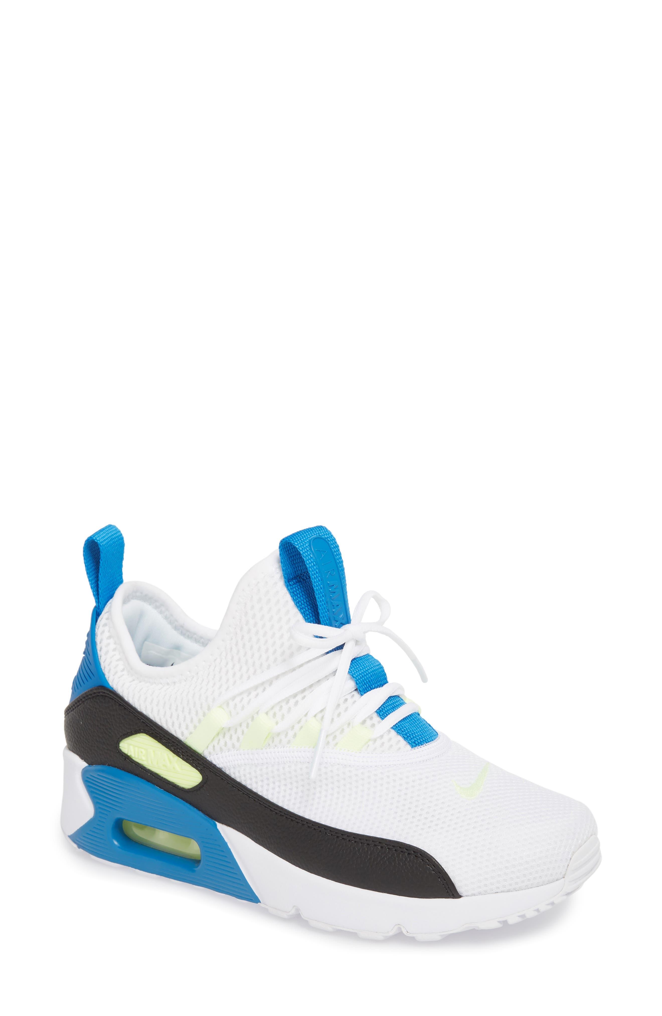 Air Max 90 EZ Sneaker,                             Main thumbnail 1, color,                             White/ Black/ Blue Nebula