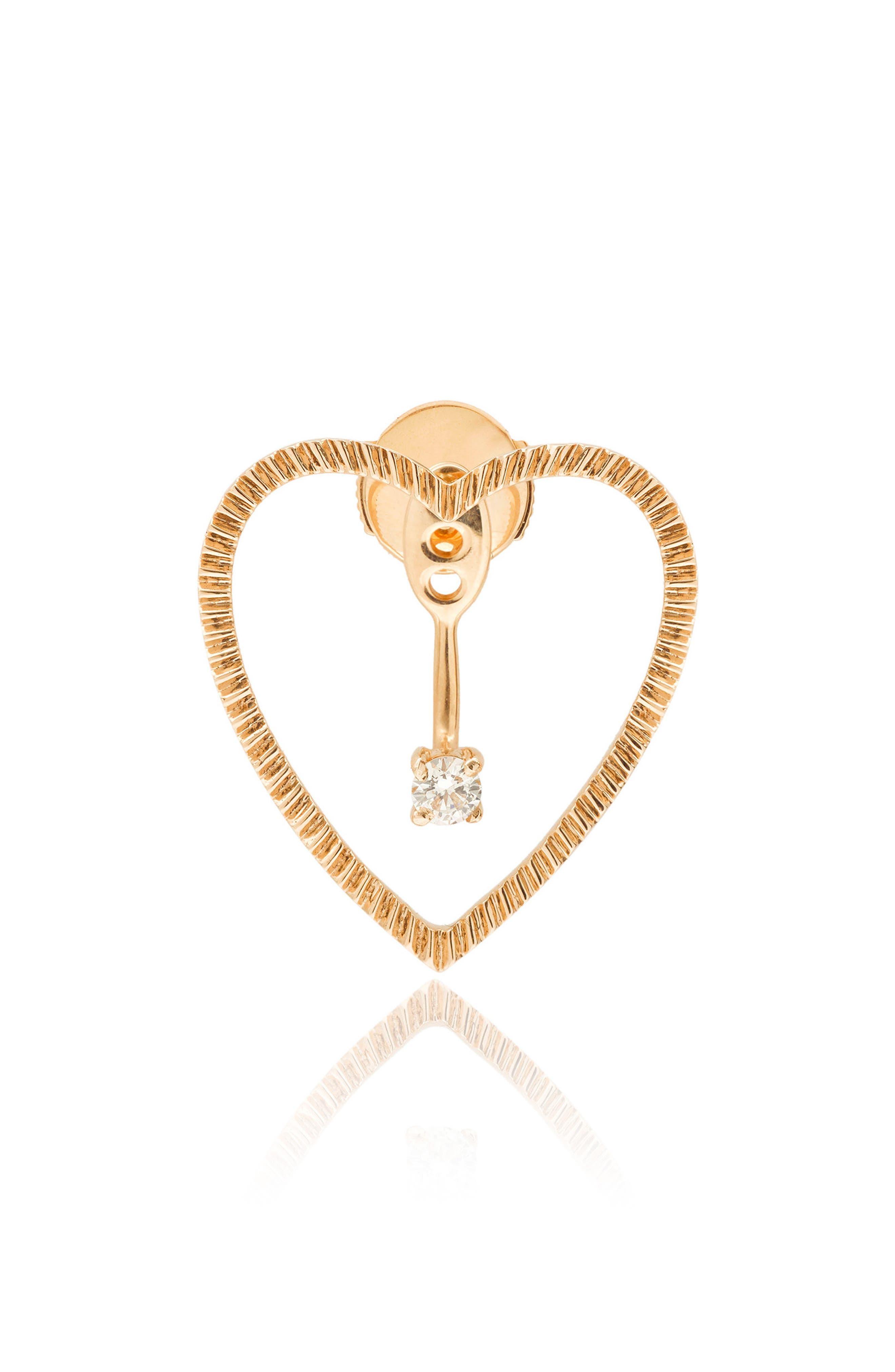 Yvonne Léon Heart & Diamond Ear Jacket