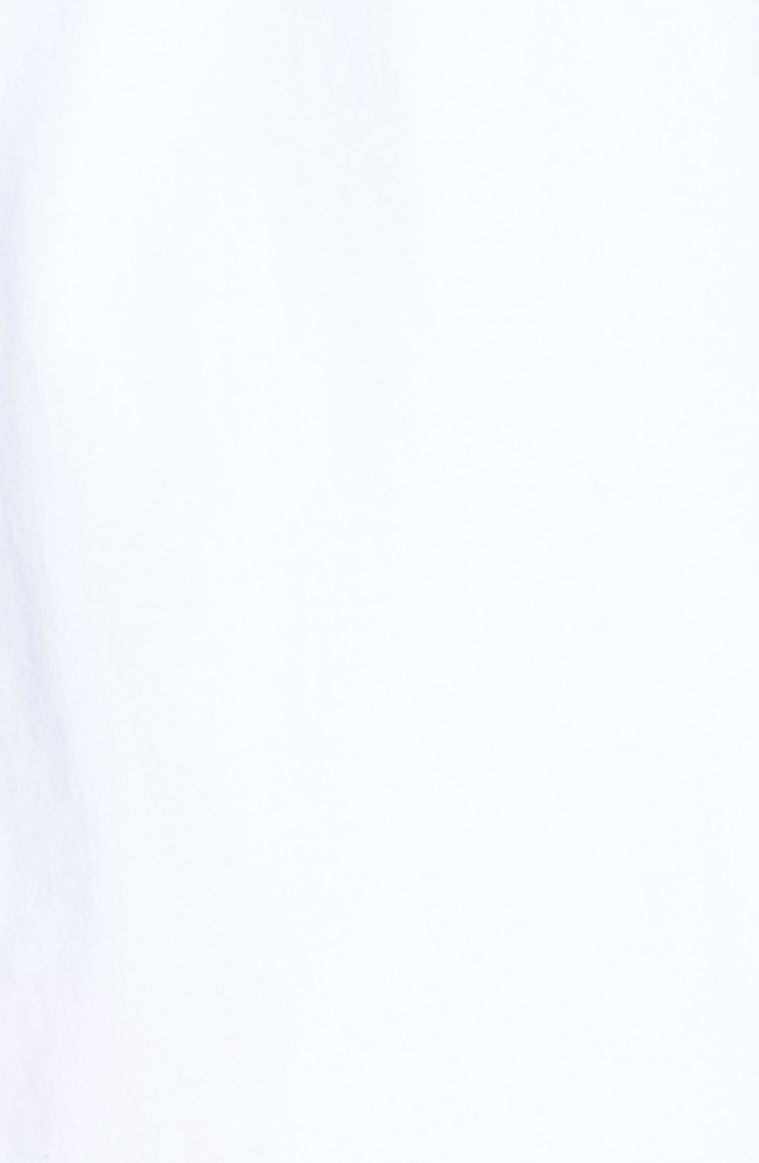 Elongated Stripe Side Zip T-Shirt,                             Alternate thumbnail 4, color,                             White