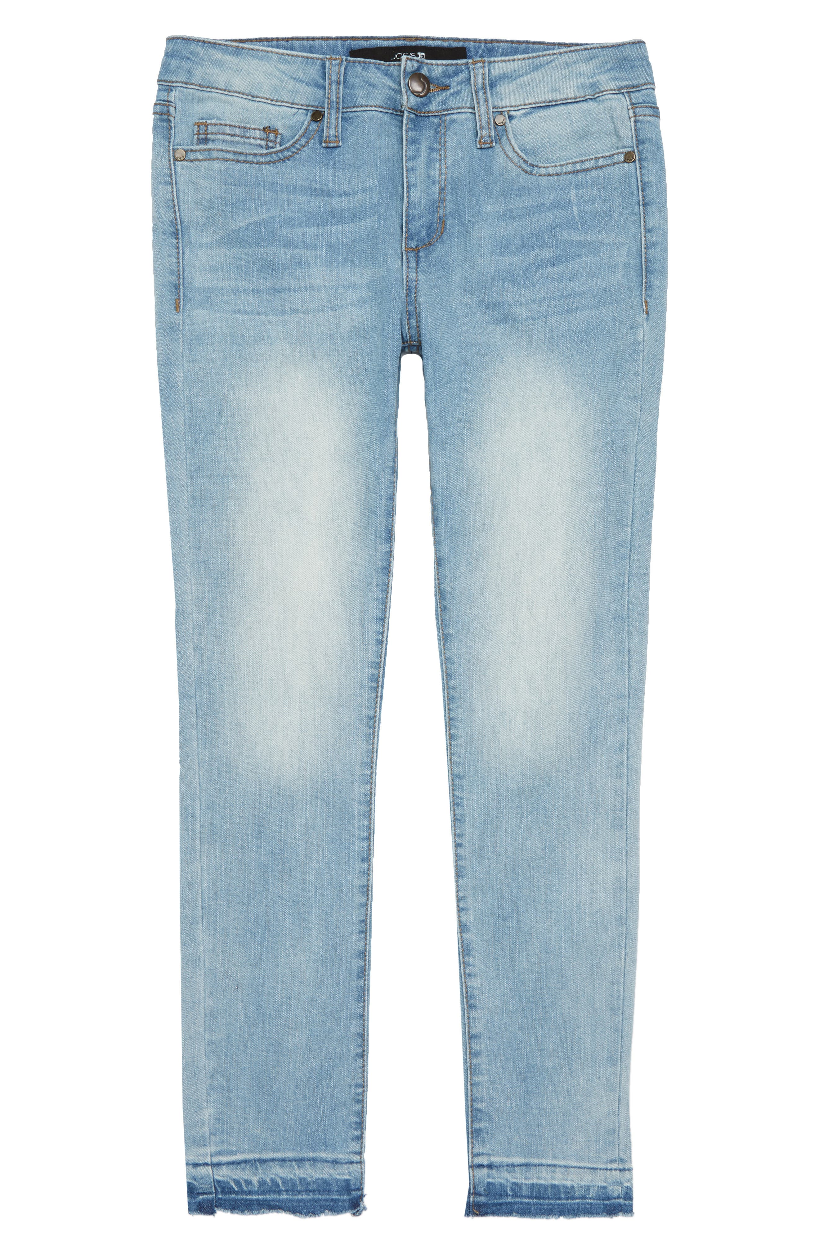 The Markie Release Hem Skinny Jeans,                             Main thumbnail 1, color,                             Louie Bloo