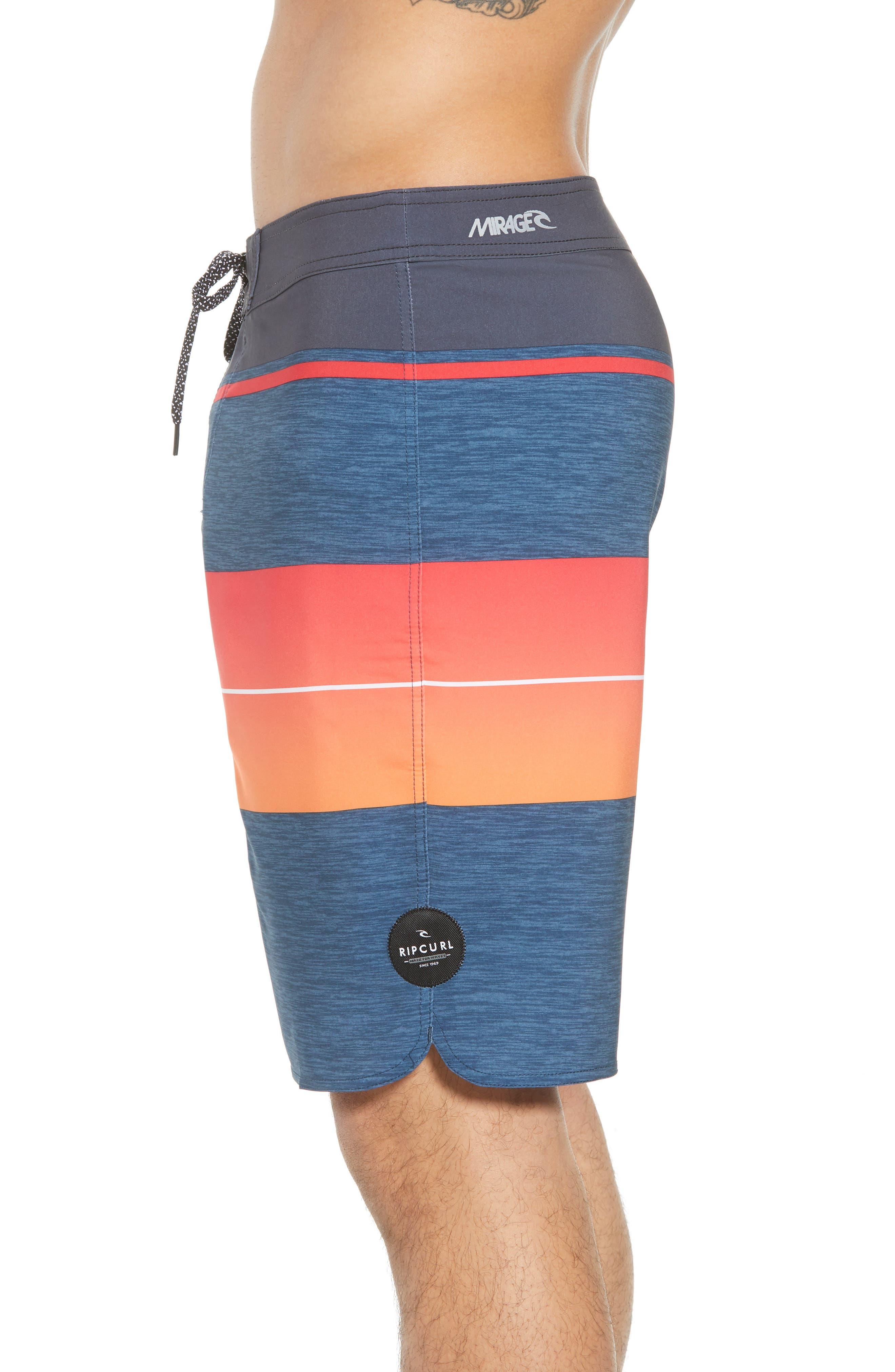 Mirage Eclipse Board Shorts,                             Alternate thumbnail 3, color,                             Orange