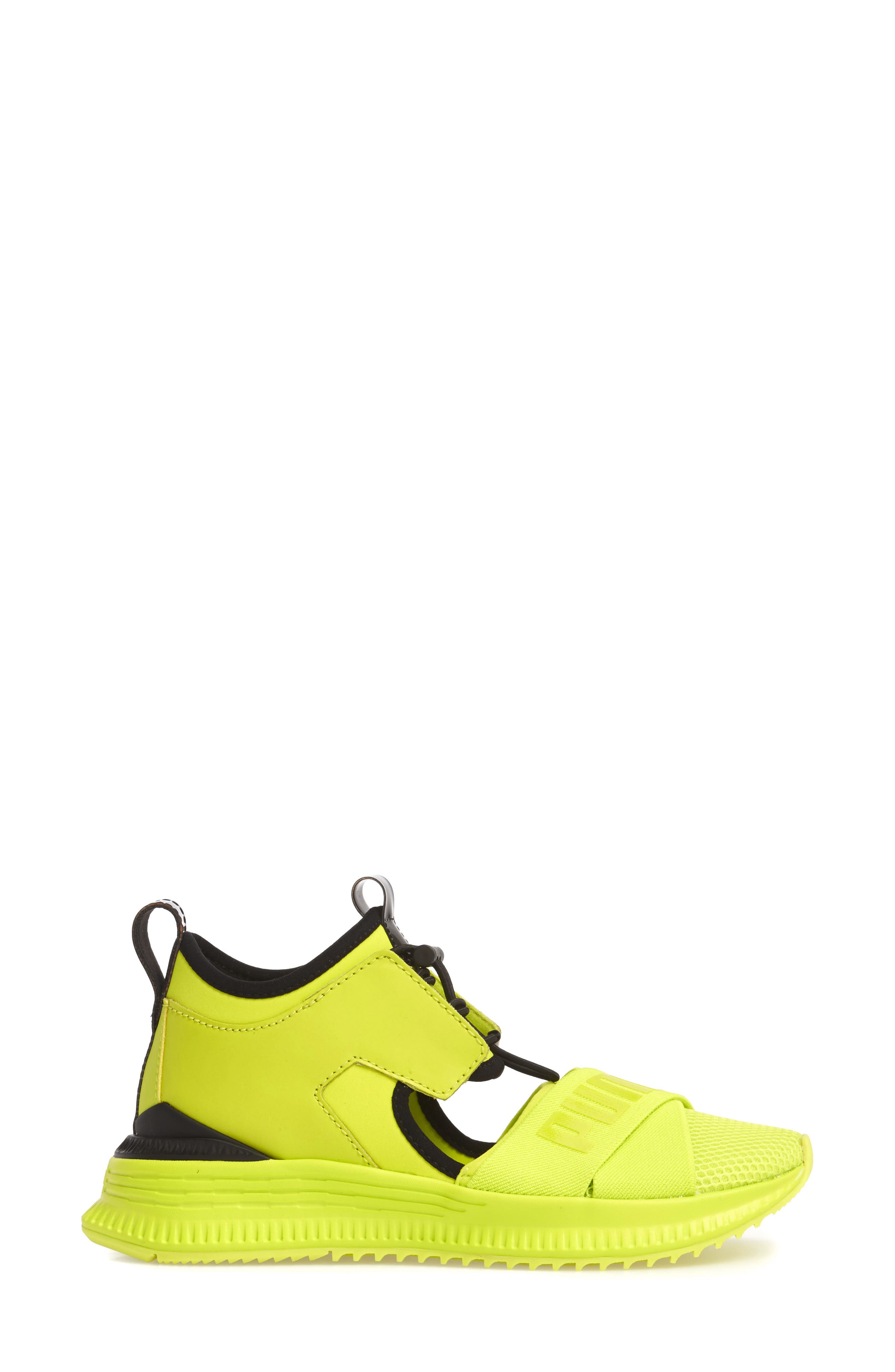 FENTY PUMA by Rihanna Avid Sneaker,                             Alternate thumbnail 3, color,                             Lime Punch/ Black/ Lime Punch