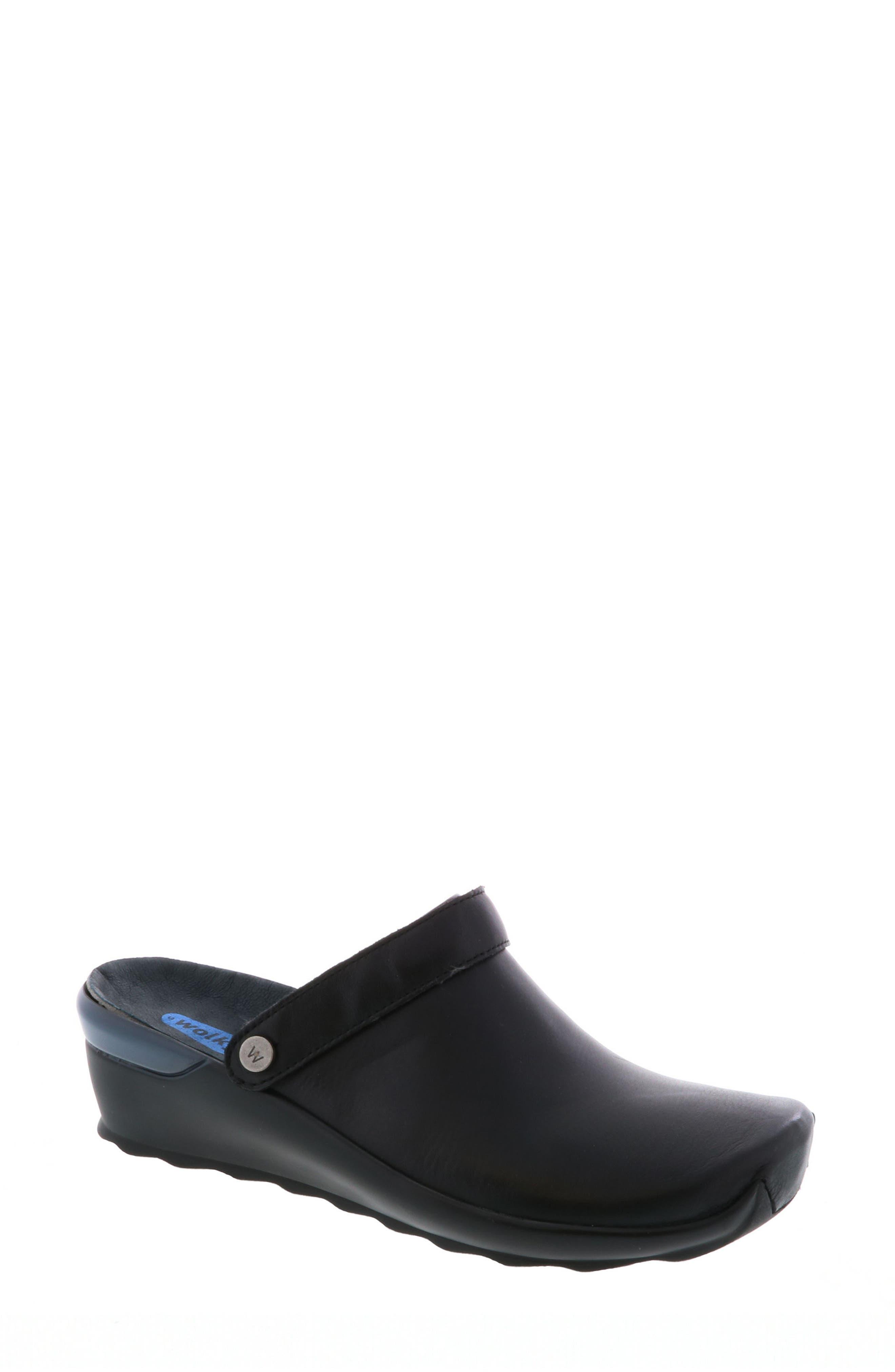 Bi Clog,                         Main,                         color, Black Velvet Leather