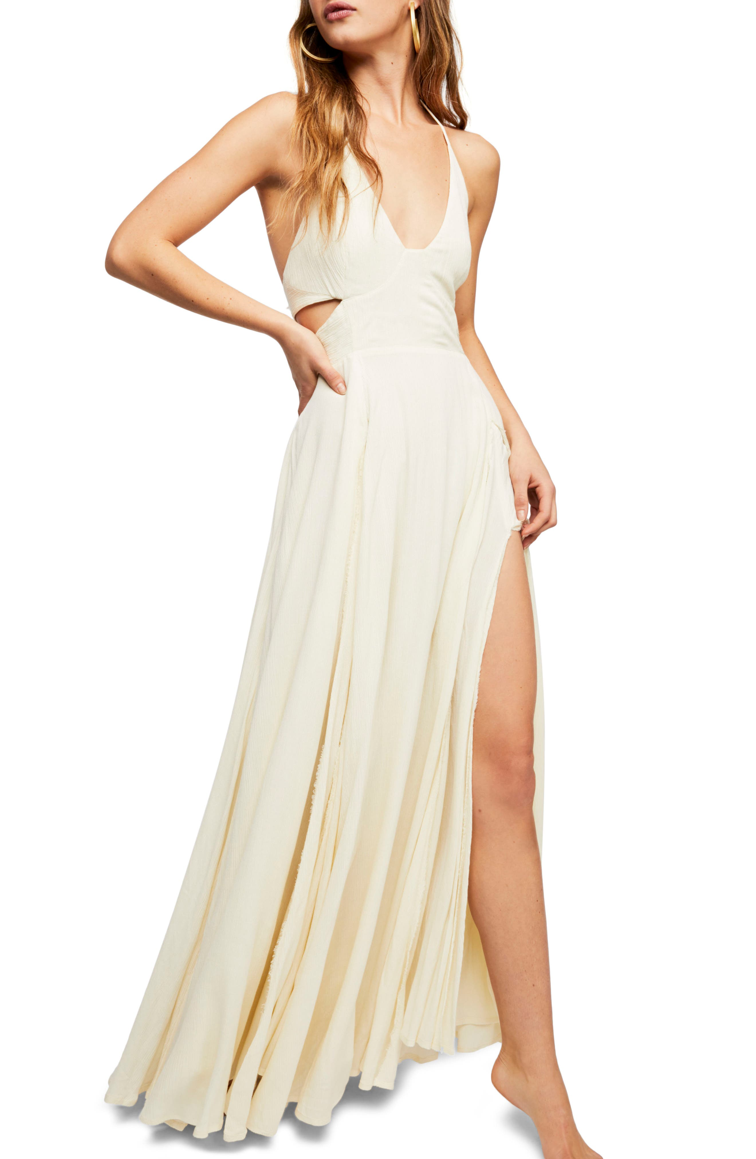Endless Summer by Free People Lillie Maxi Dress,                             Main thumbnail 1, color,                             Canary