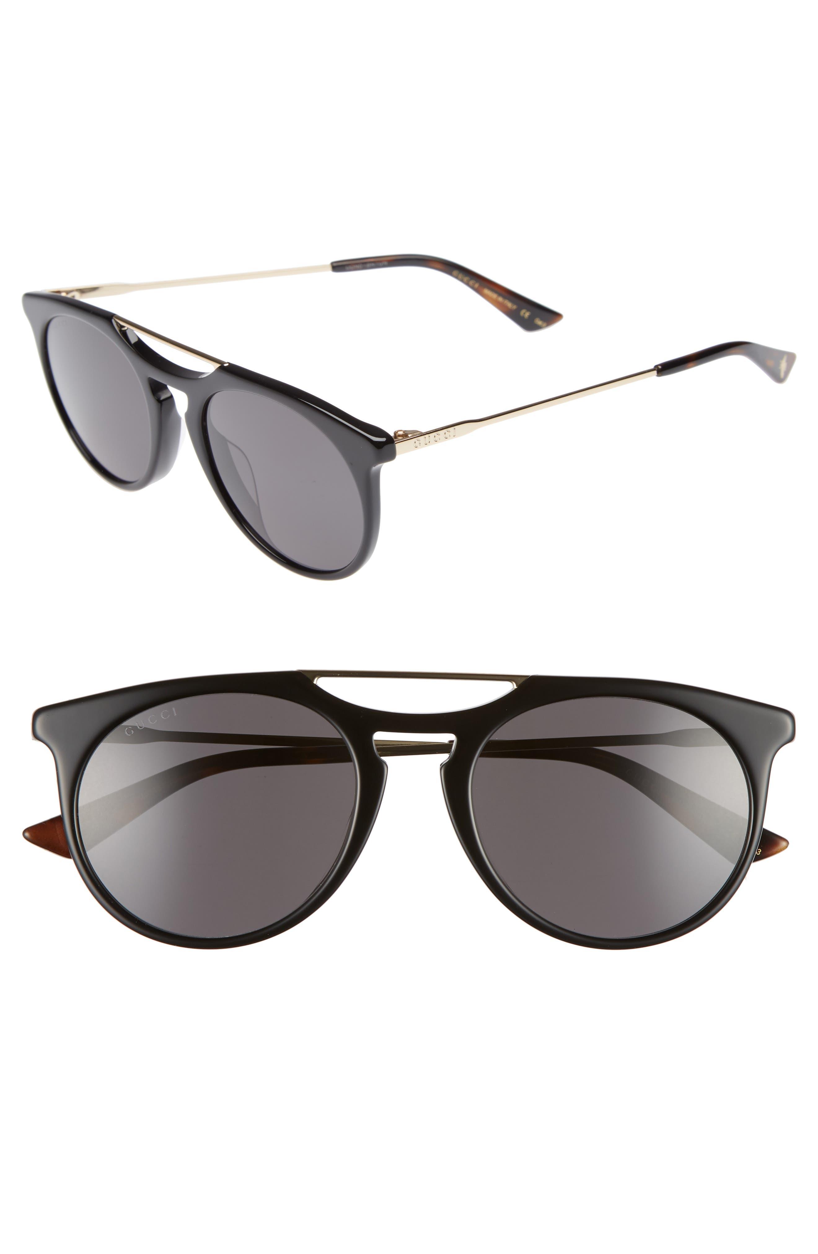 Light Combi 53mm Sunglasses,                         Main,                         color, Gold/ Dark Havana