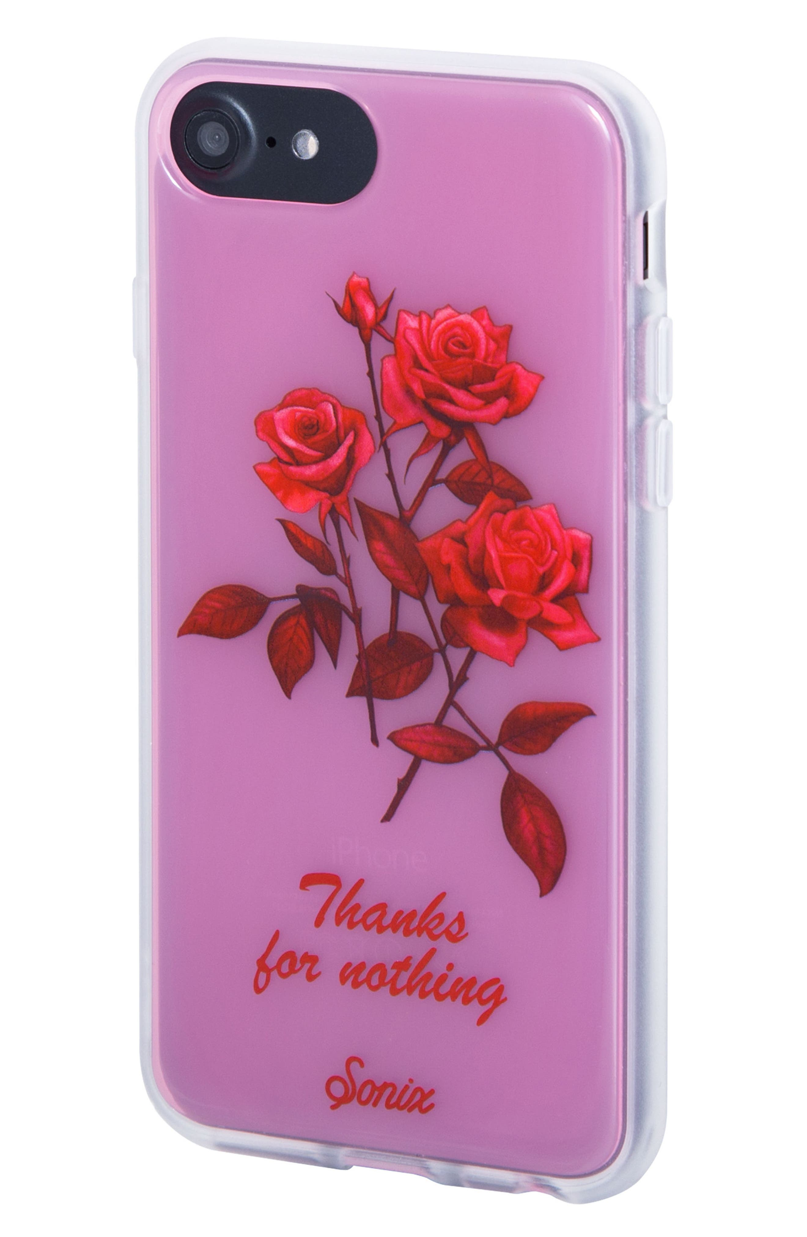 Thanks for Nothing iPhone 6/6s/7/8 & 6/6s/7/8 Plus Case,                             Alternate thumbnail 3, color,                             Pink/ Red