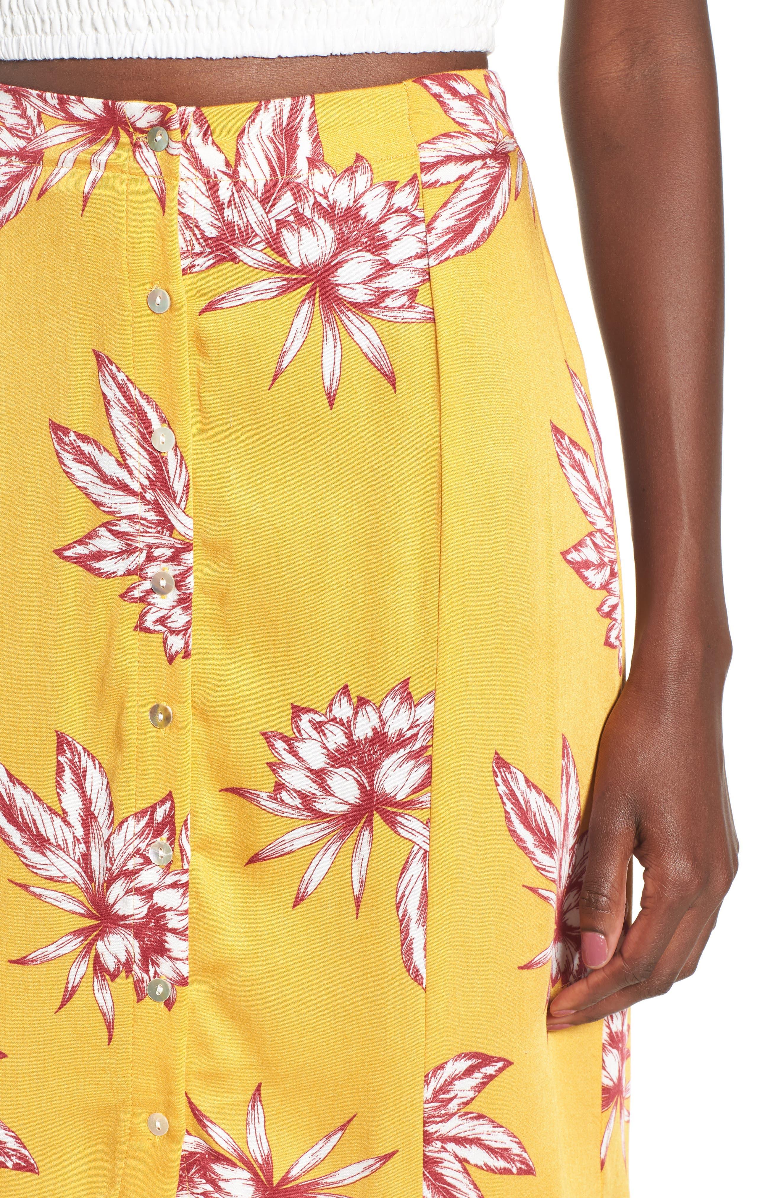 Searing Soul Midi Skirt,                             Alternate thumbnail 5, color,                             Multi