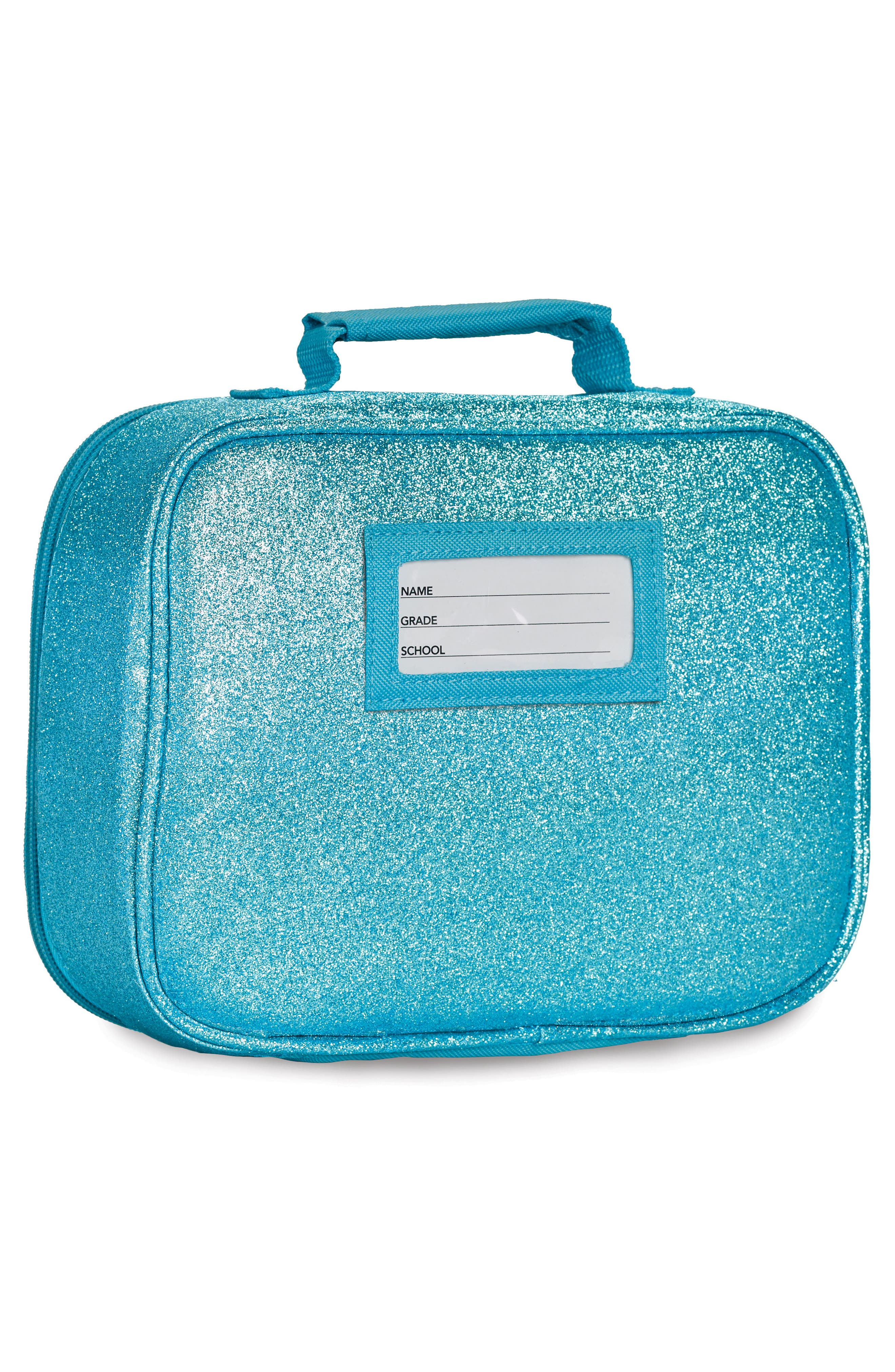 Sparkalicious Water Resistant Lunch Box,                             Alternate thumbnail 3, color,                             Turquoise