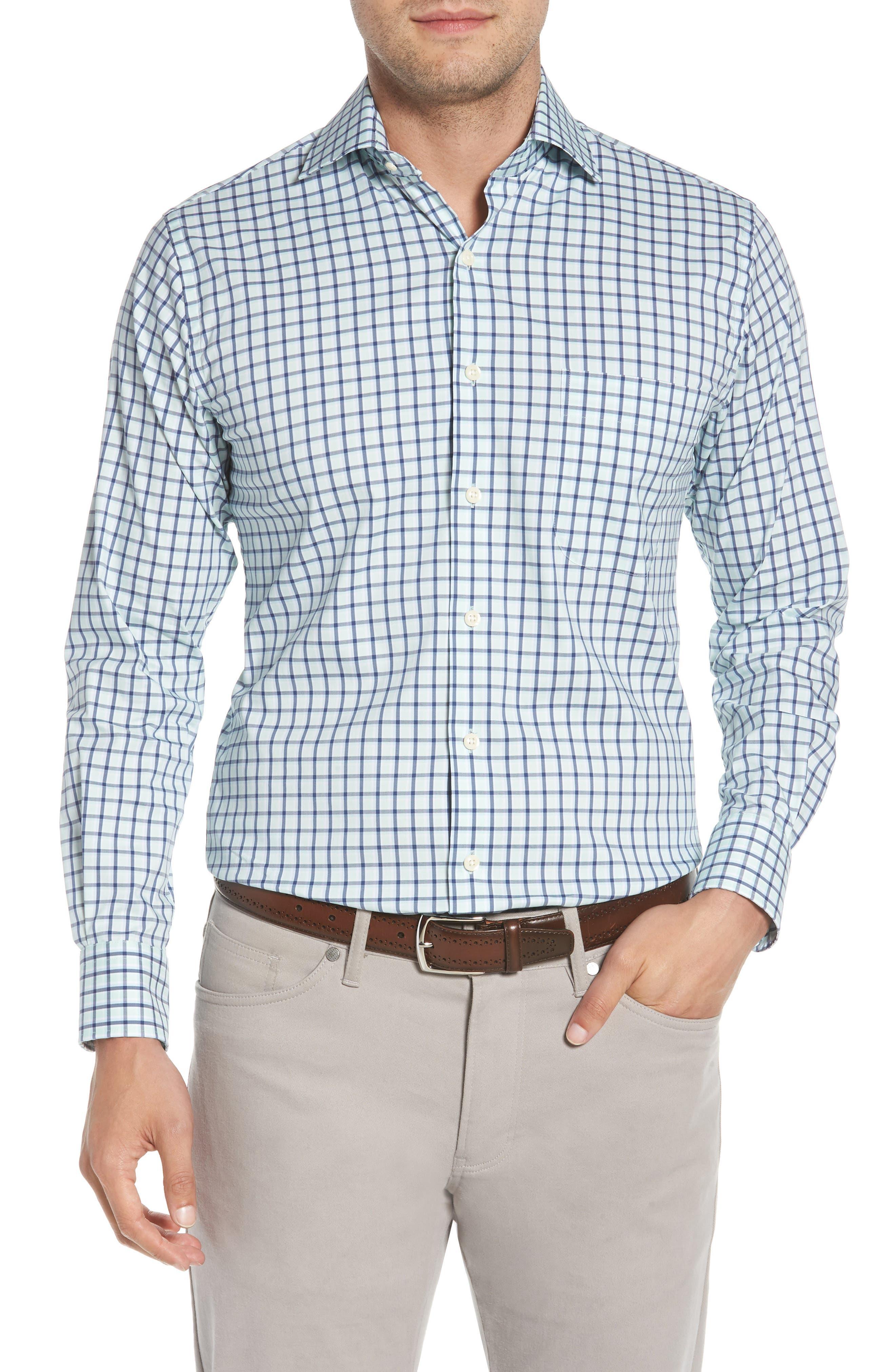 Crown Comfort Check Sport Shirt,                             Main thumbnail 1, color,                             Cays