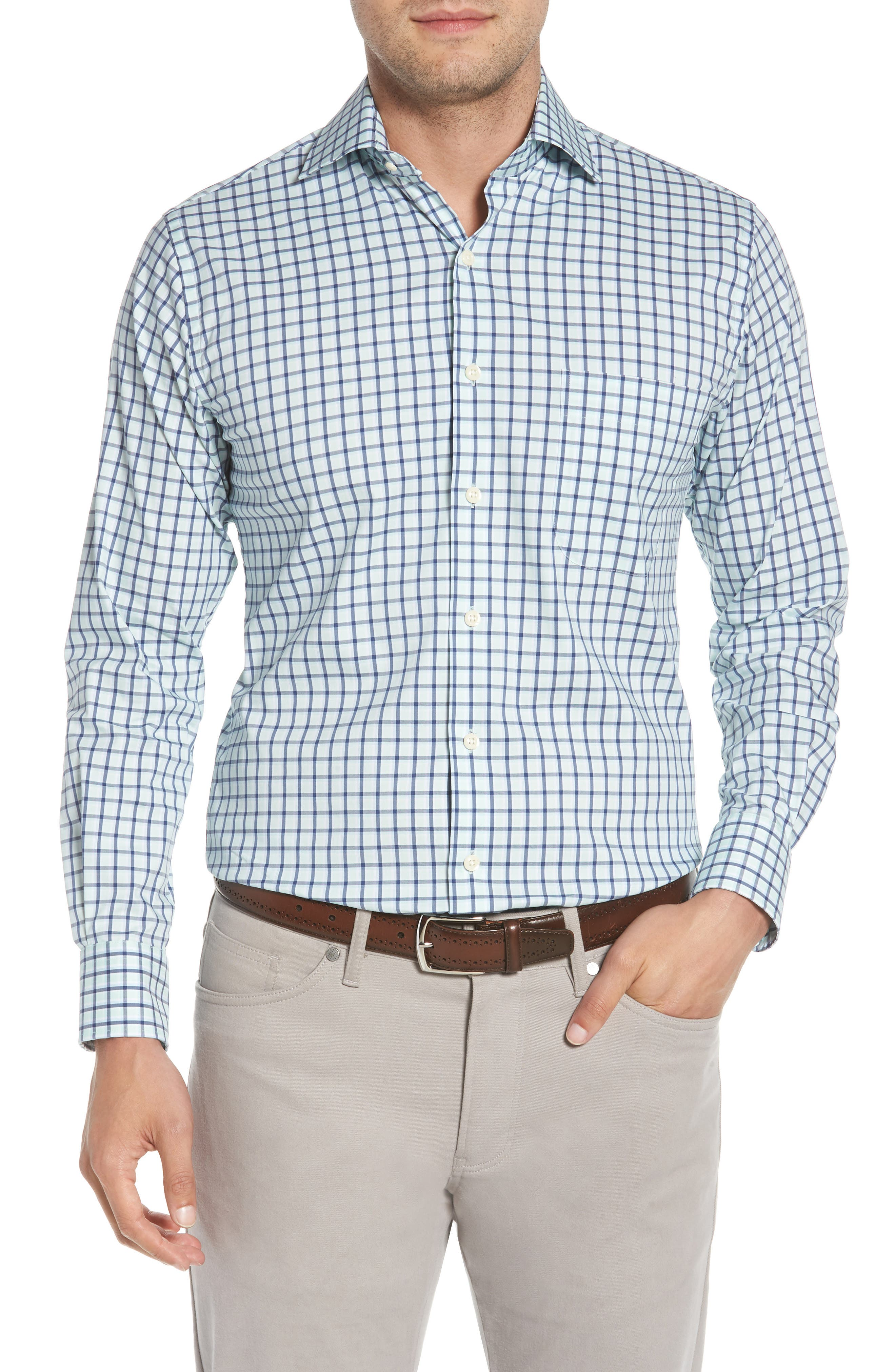 Crown Comfort Check Sport Shirt,                         Main,                         color, Cays