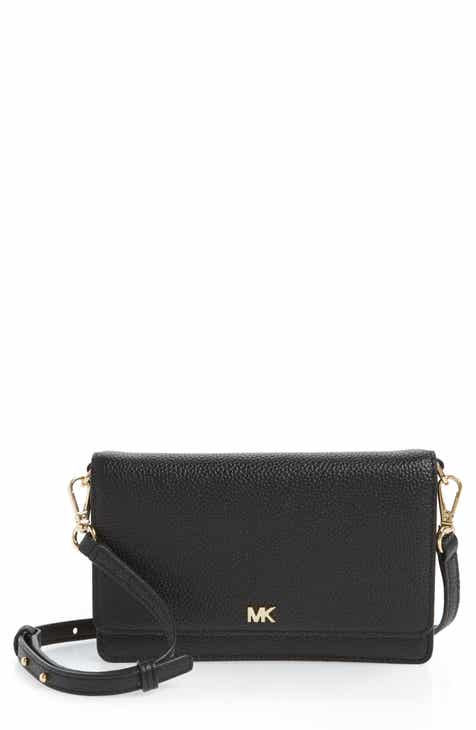 977316c35cff MICHAEL Michael Kors Leather Crossbody Phone Wallet