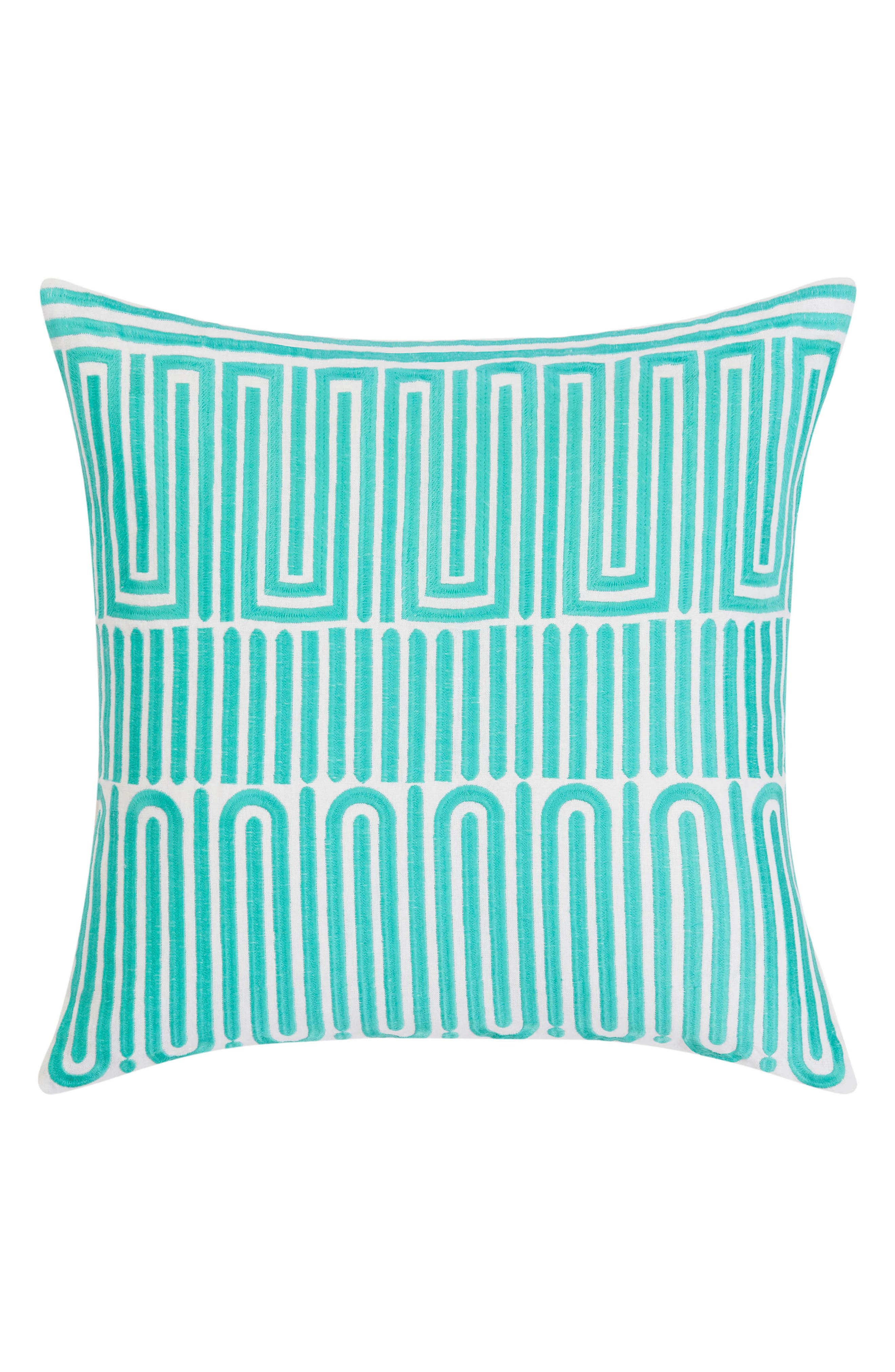 Racket Club Accent Pillow,                             Main thumbnail 1, color,                             Turquoise