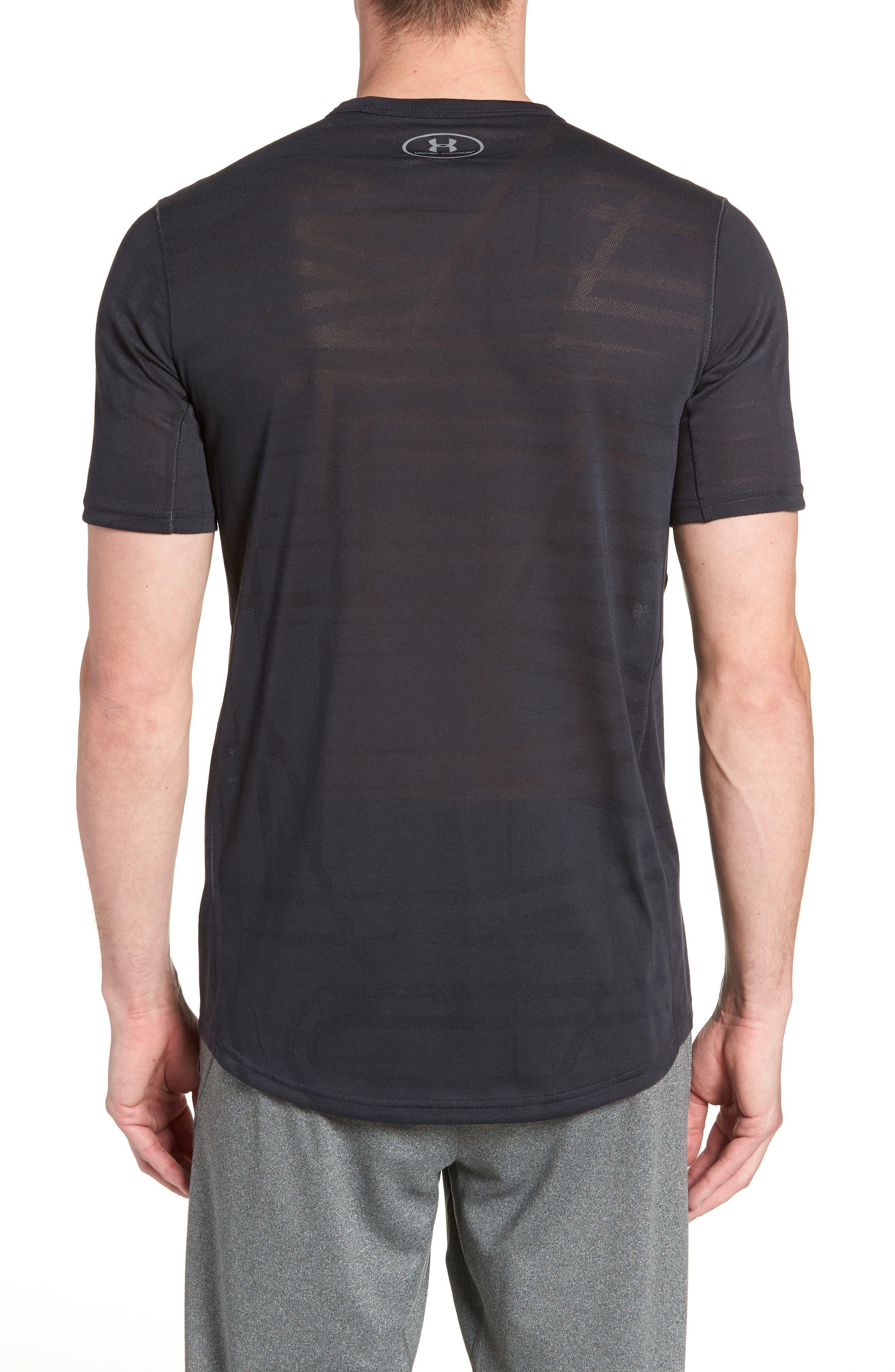 Threadborne Elite Crewneck T-Shirt,                             Alternate thumbnail 2, color,                             Black/ Graphite