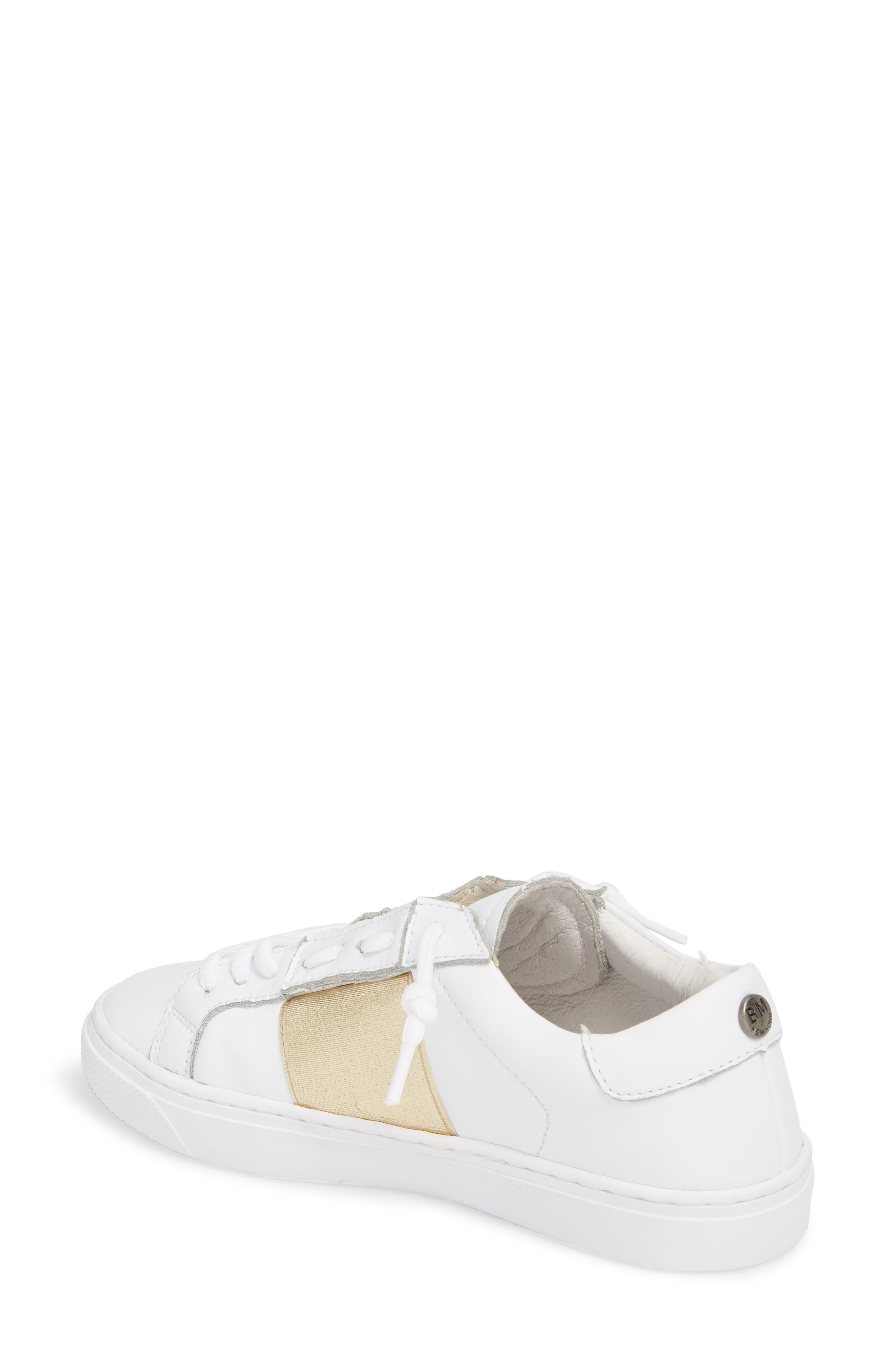 Slip-On Sneaker,                             Alternate thumbnail 2, color,                             Gold Elastic Leather