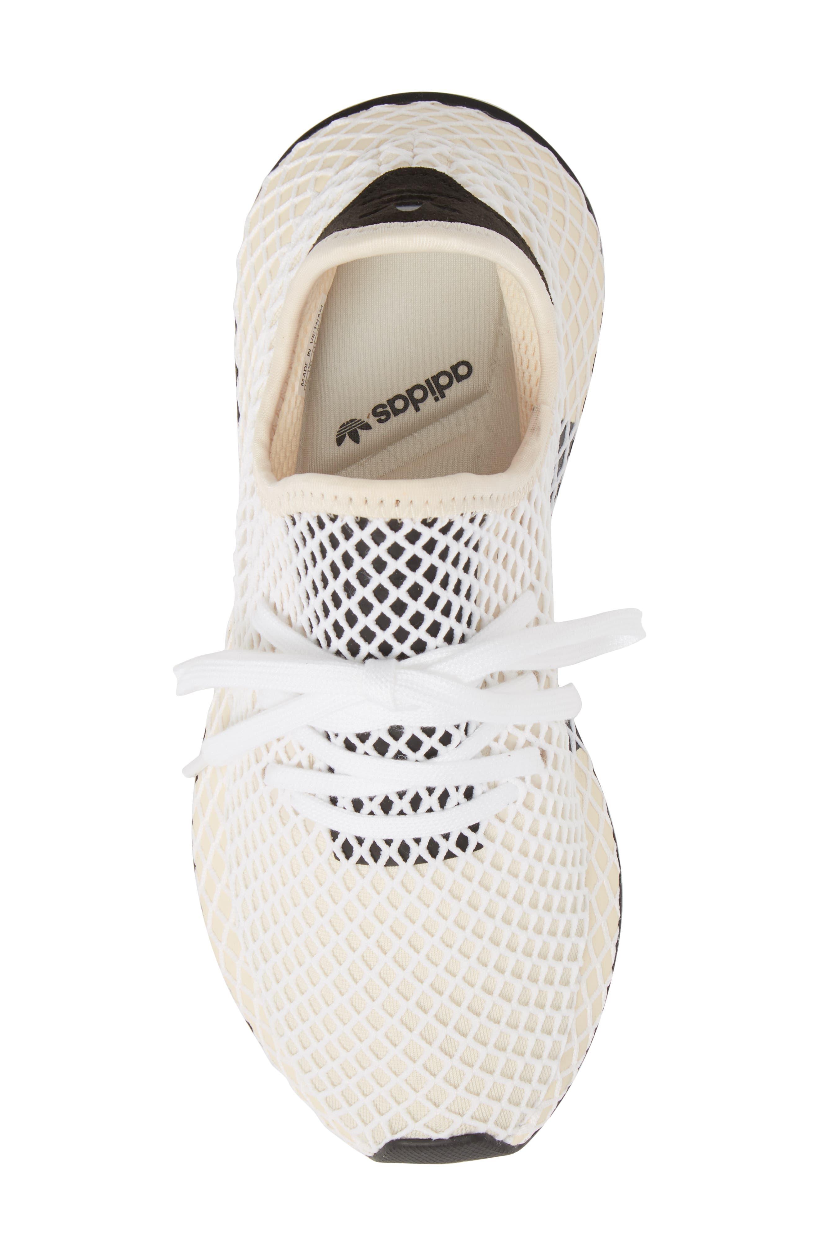 Deerupt Runner Sneaker,                             Alternate thumbnail 5, color,                             Linen/ Linen/ Ecru Tint