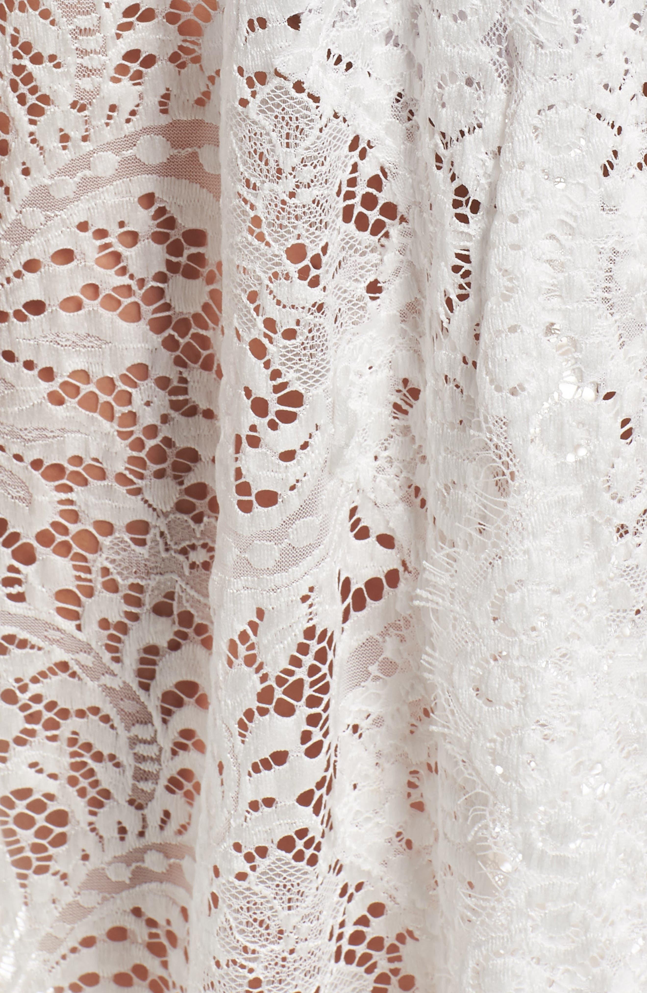 Anemone Long Lace Wrap,                             Alternate thumbnail 6, color,                             White