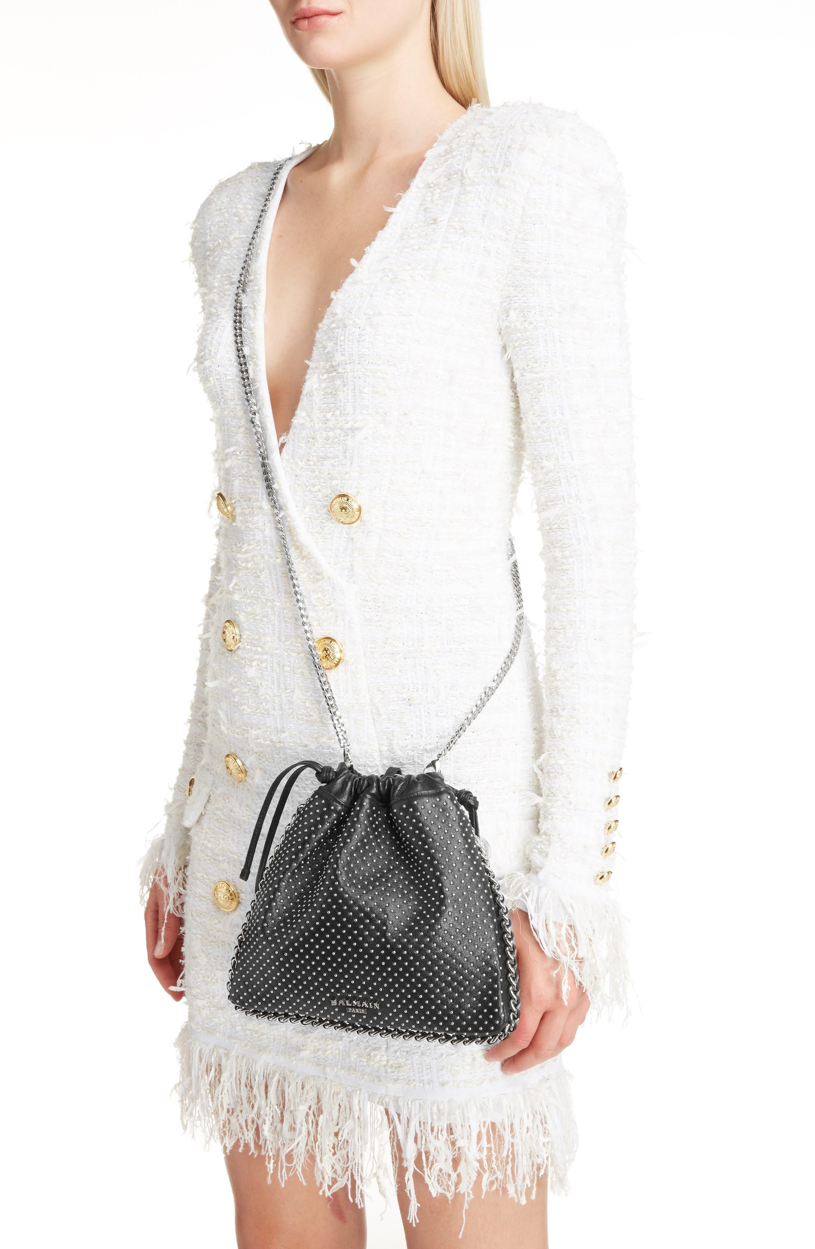 Studded Leather Bracelet Backpack,                             Alternate thumbnail 2, color,                             Noir