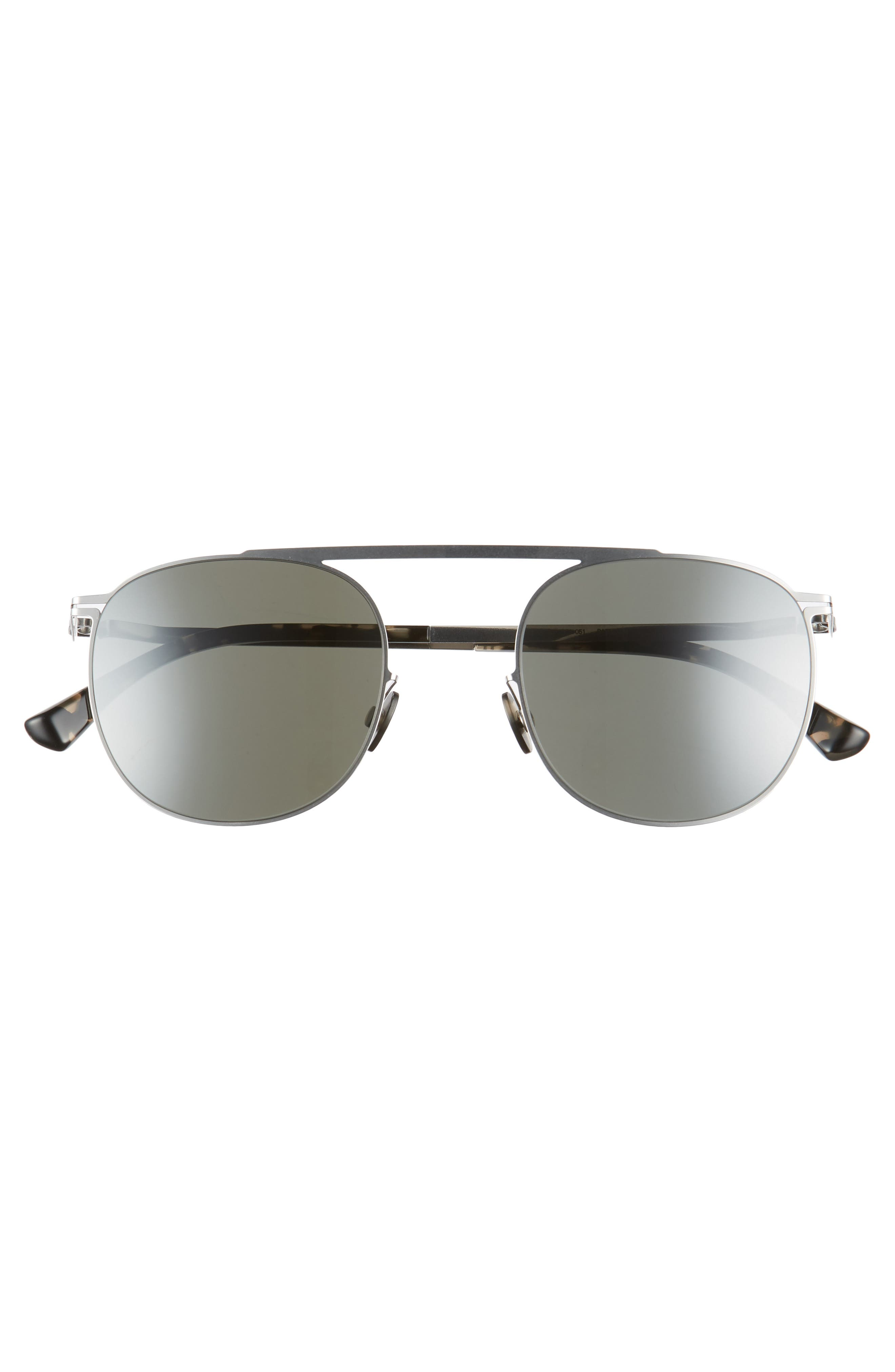 Erling 48mm Mirrored Sunglasses,                             Alternate thumbnail 2, color,                             Shiny Silver