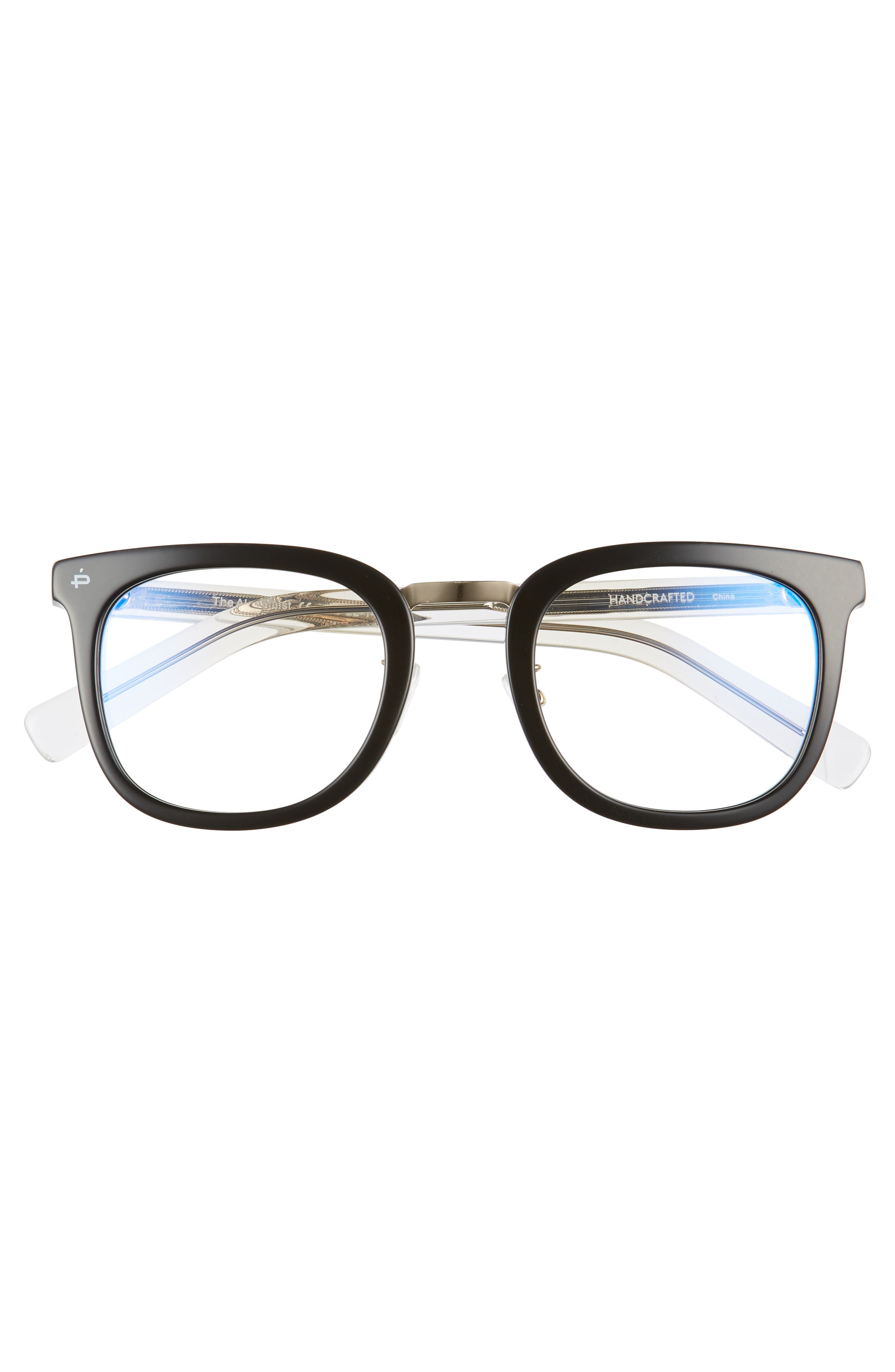 Privé Revaux The Alchemist 53mm Blue Light Blocking Glasses,                             Alternate thumbnail 3, color,                             Black