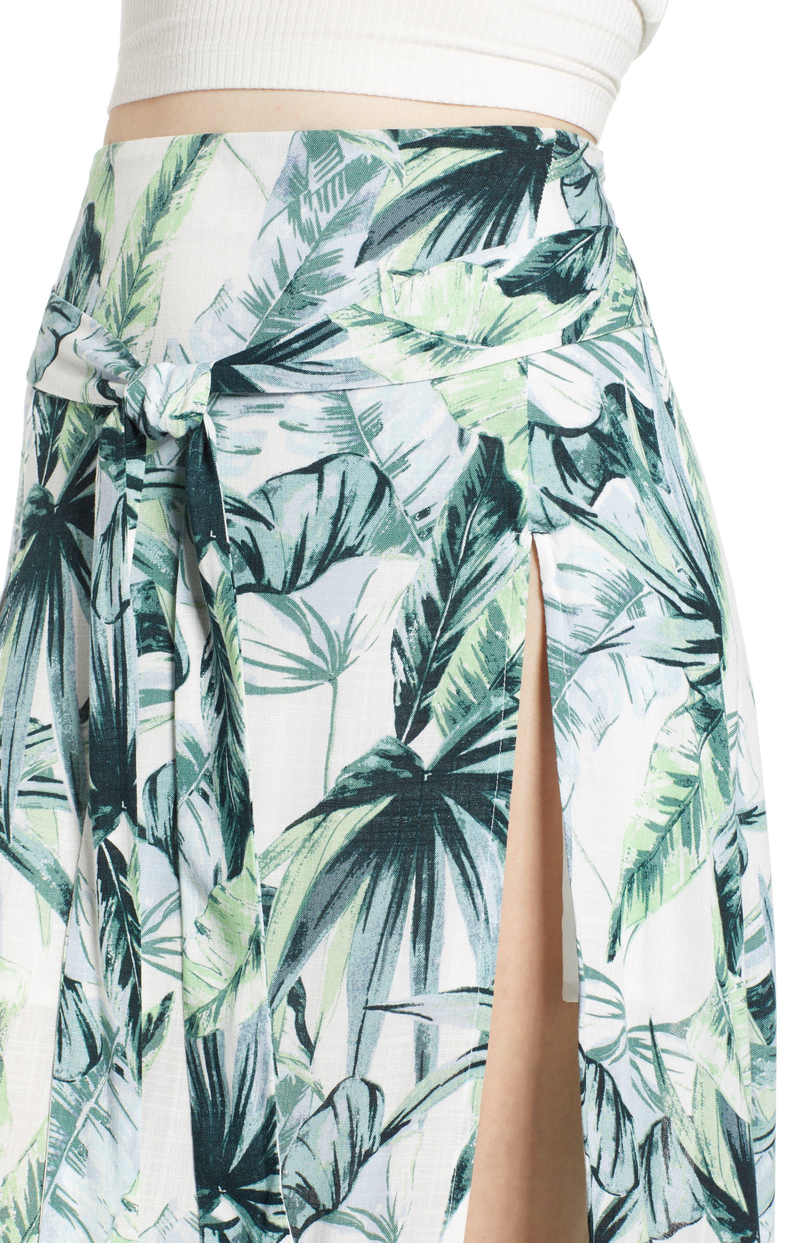 Palm Fringe Skirt,                             Alternate thumbnail 5, color,                             Multi