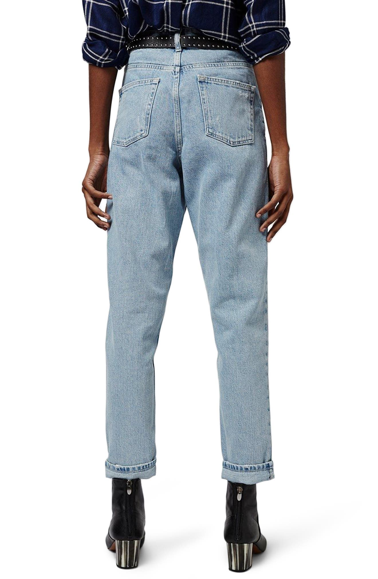 Mom Jeans,                             Alternate thumbnail 3, color,                             Light Denim