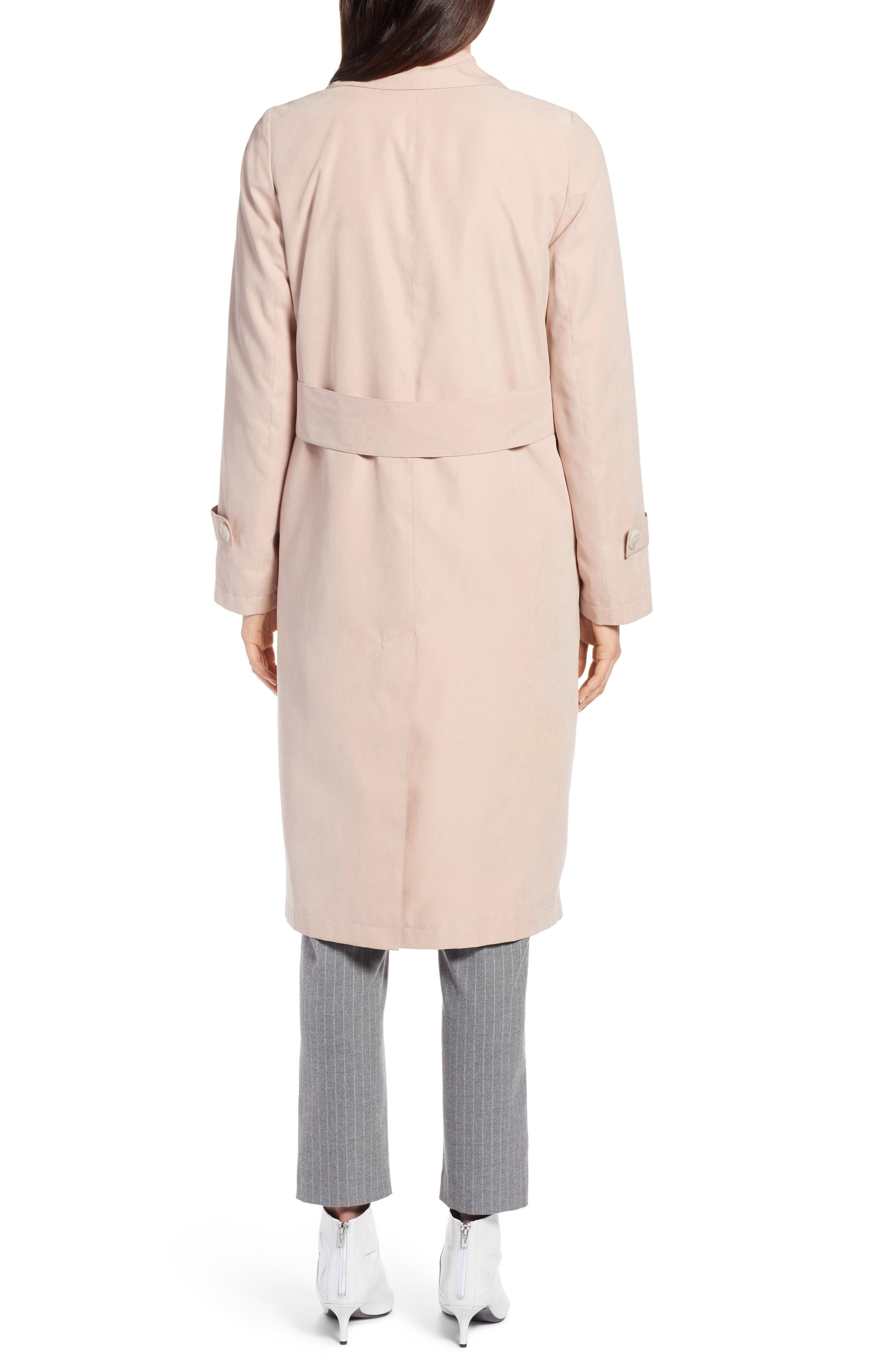 Double Breasted Trench Coat,                             Alternate thumbnail 2, color,                             Blush